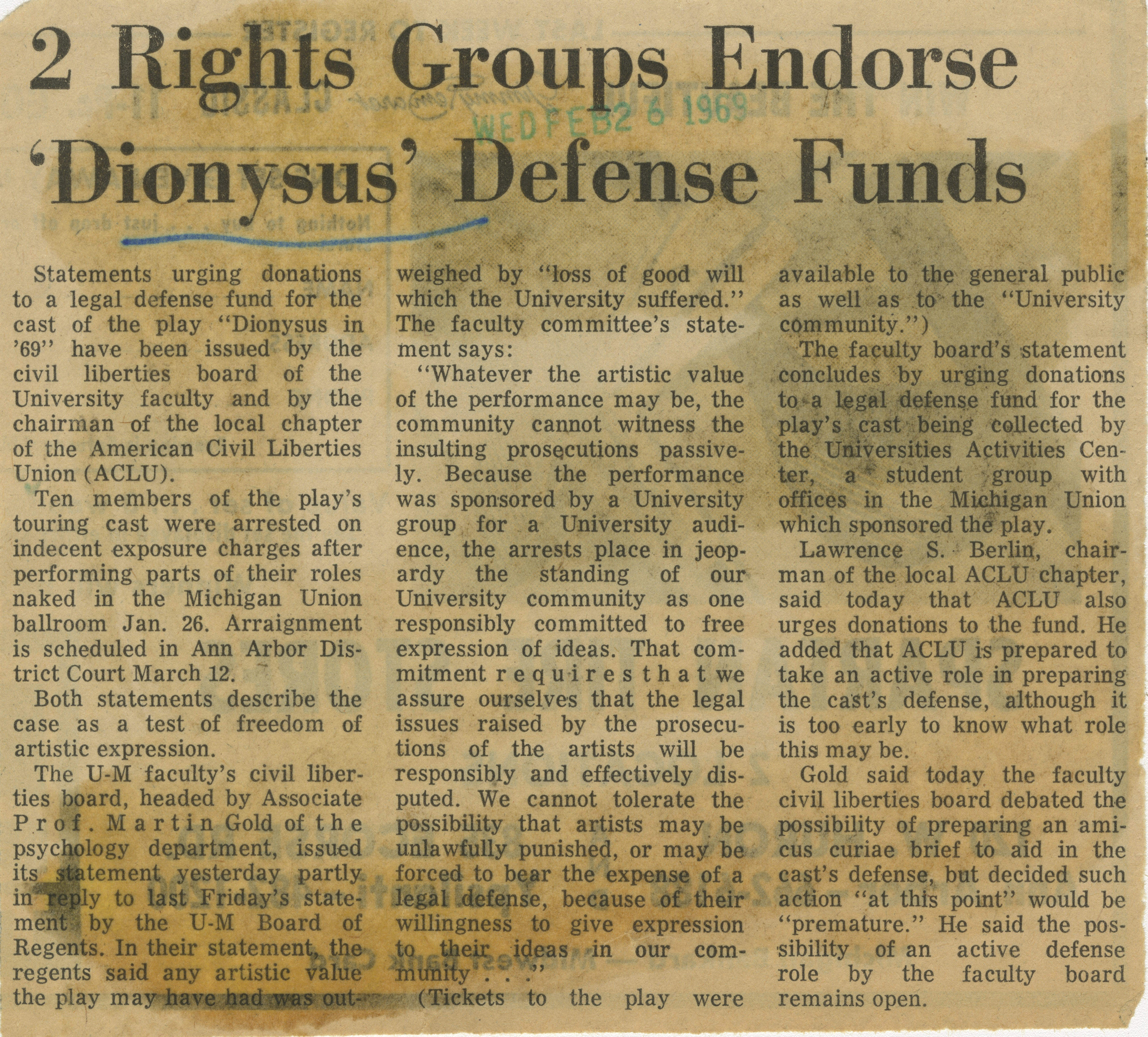 2 Rights Groups Endorse 'Dionysus' Defense Funds image