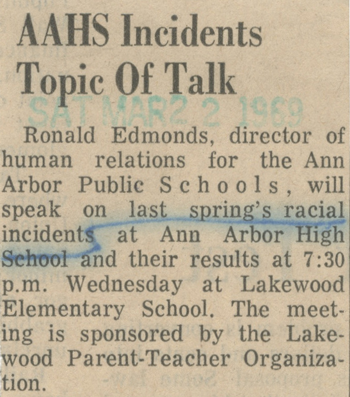 AAHS Incidents Topic Of Talk image