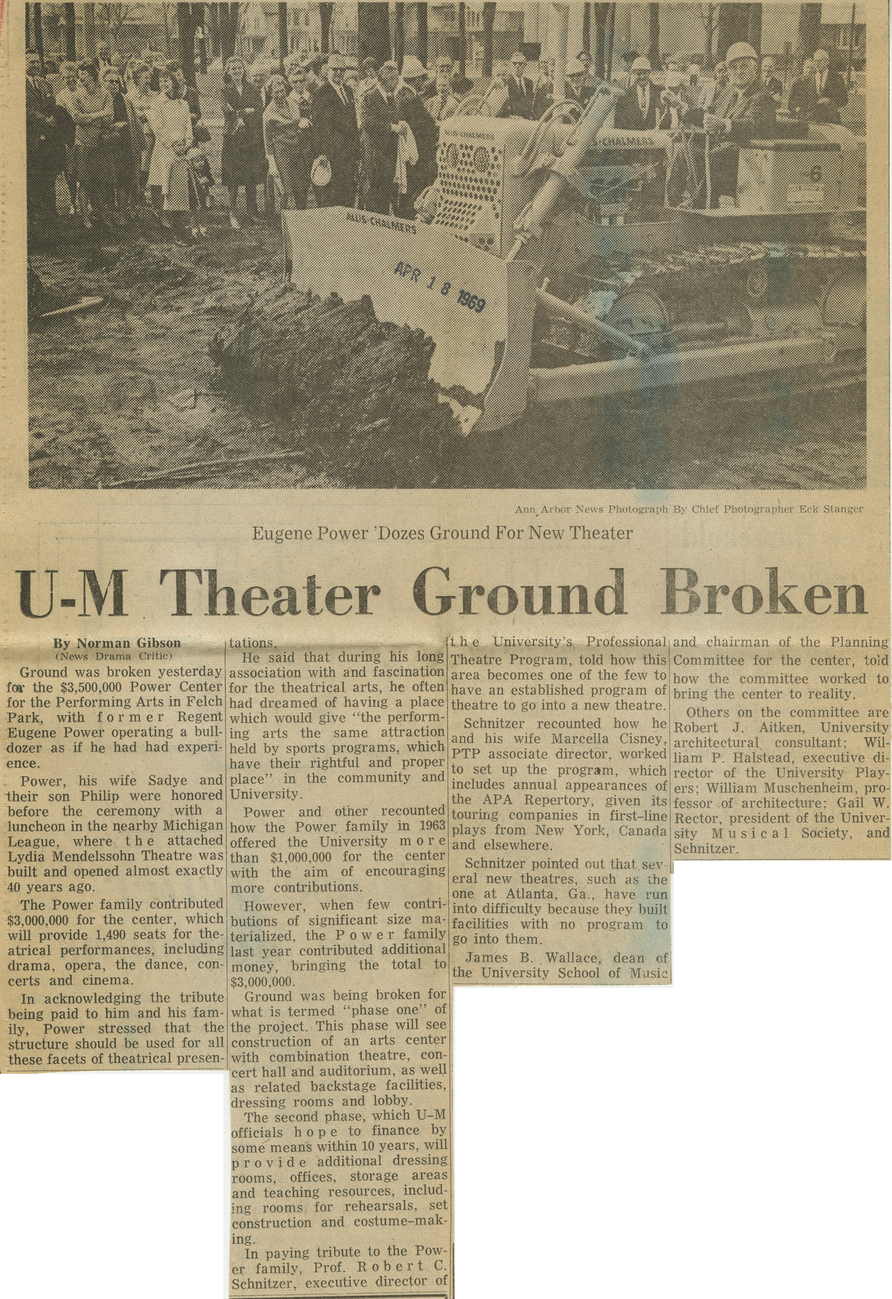 U-M Theater Ground Broken image