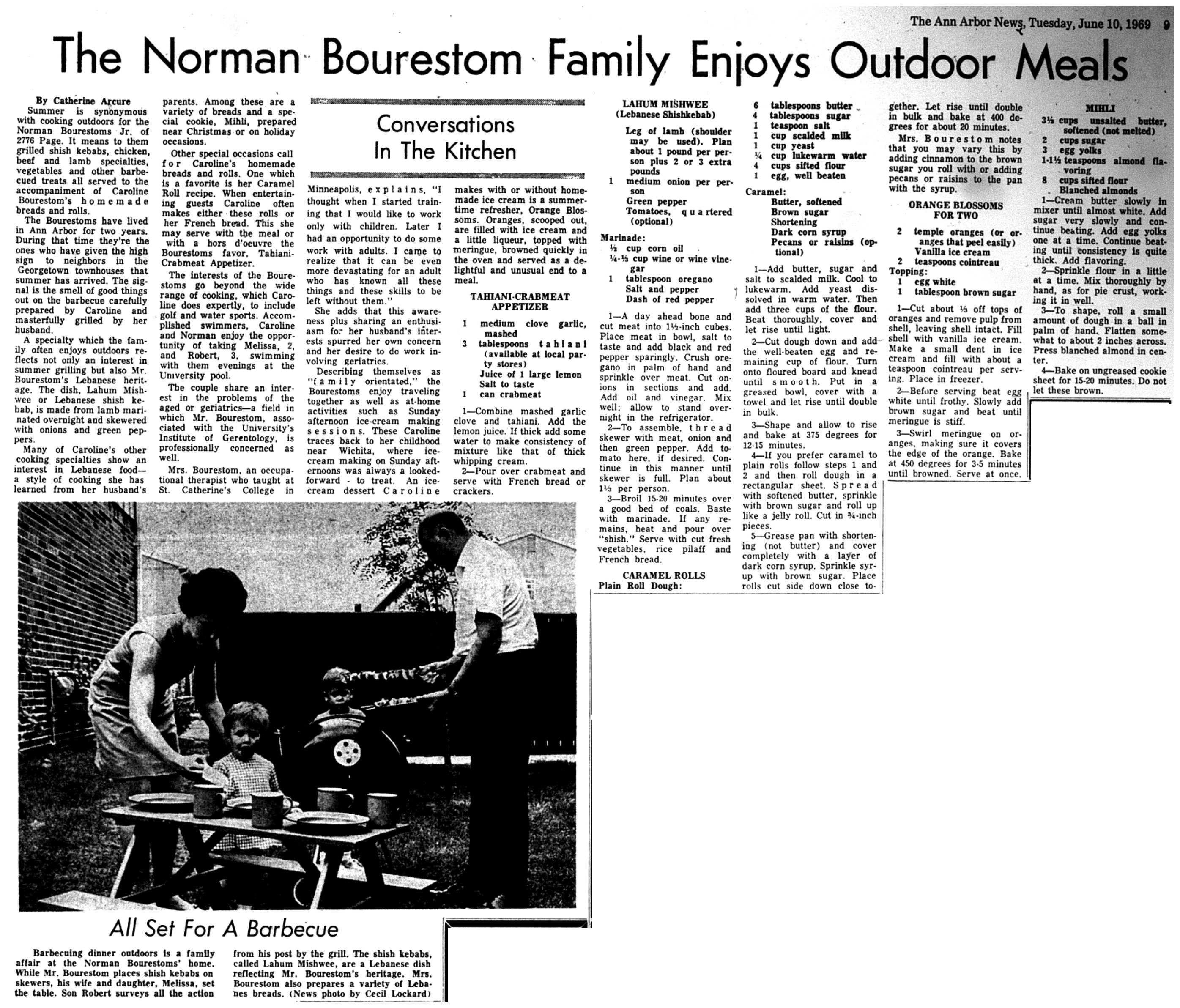 The Norman Bourestom Family Enjoys Outdoor Meals image