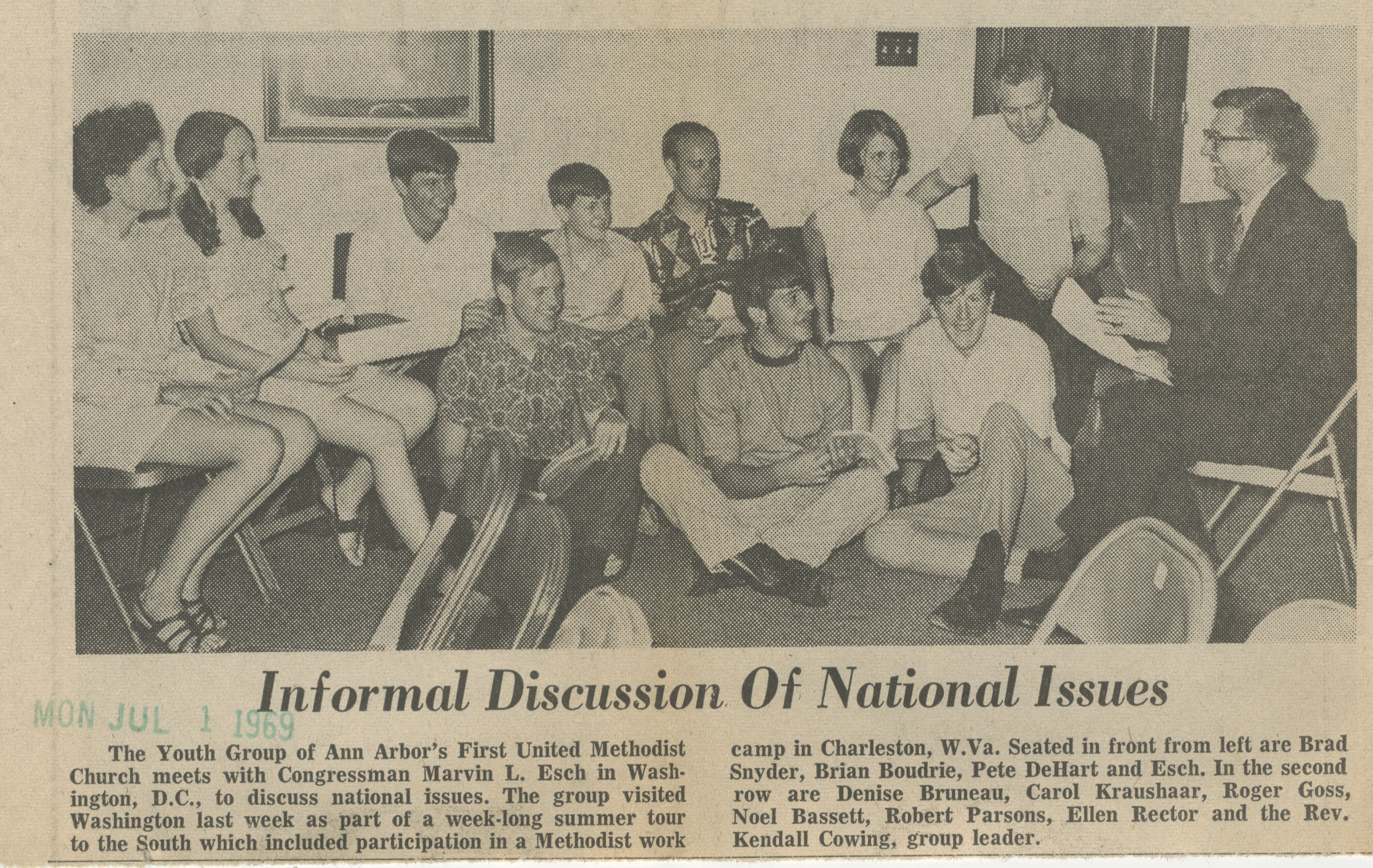Informal Discussion Of National Issues  image