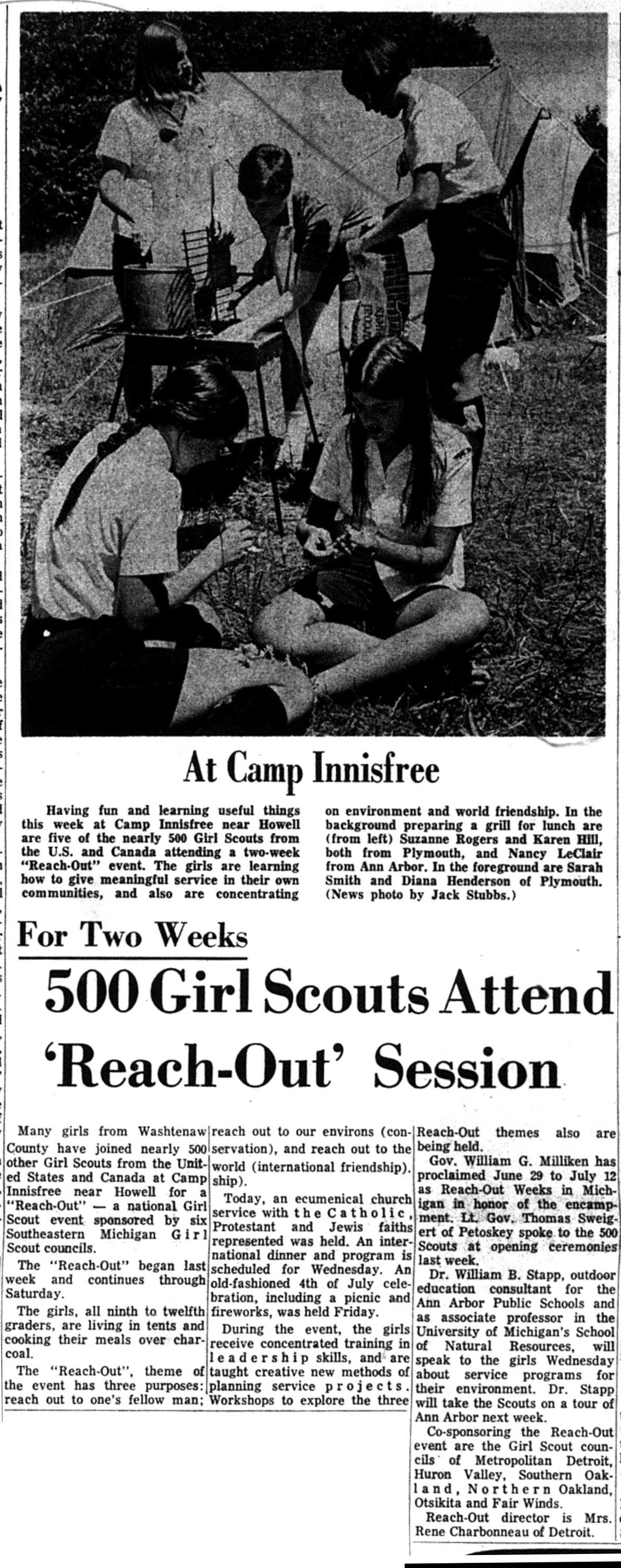 500 Girl Scouts Attend 'Reach-Out' Session image