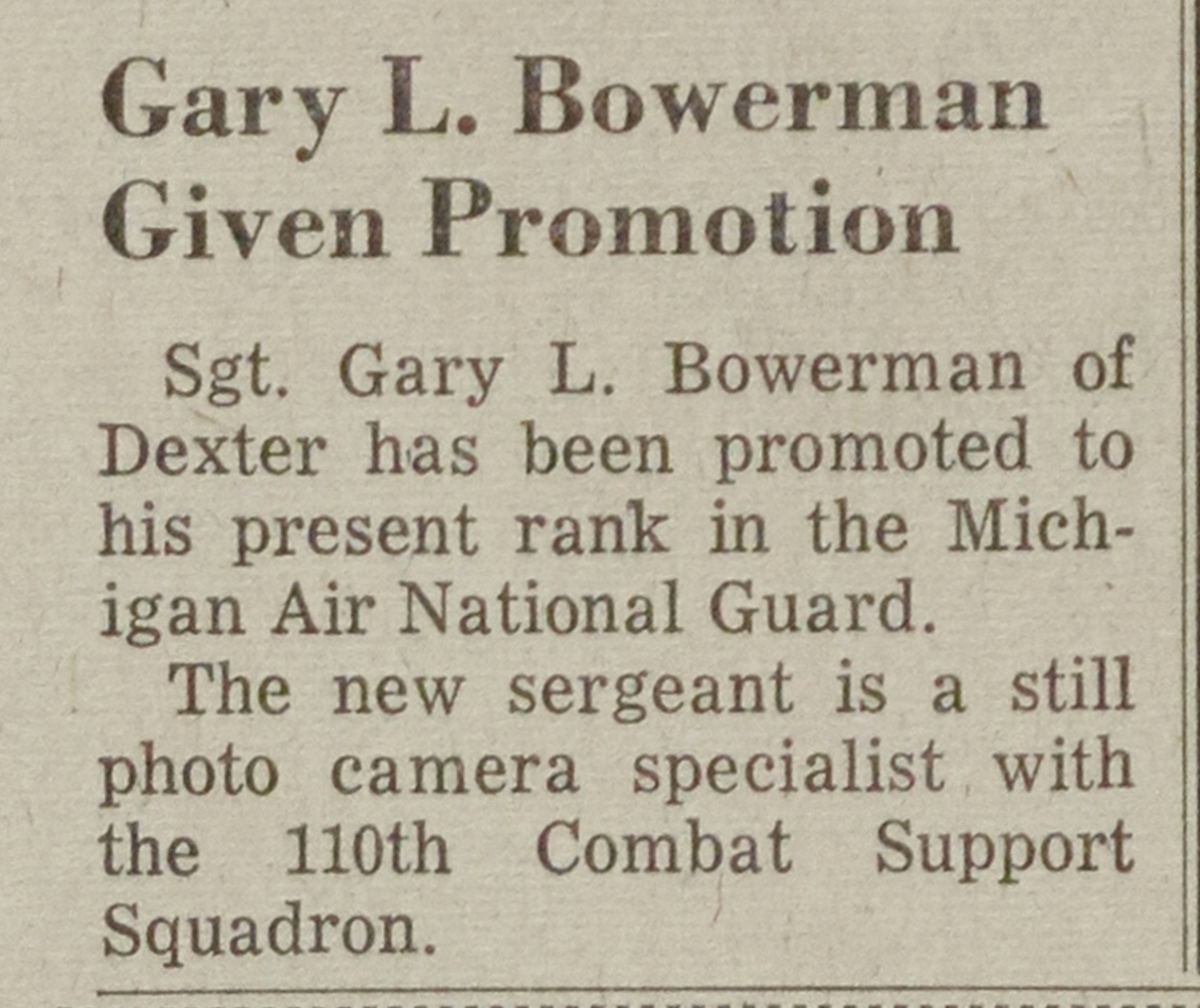 Gary L. Bowerman Given Promotion image