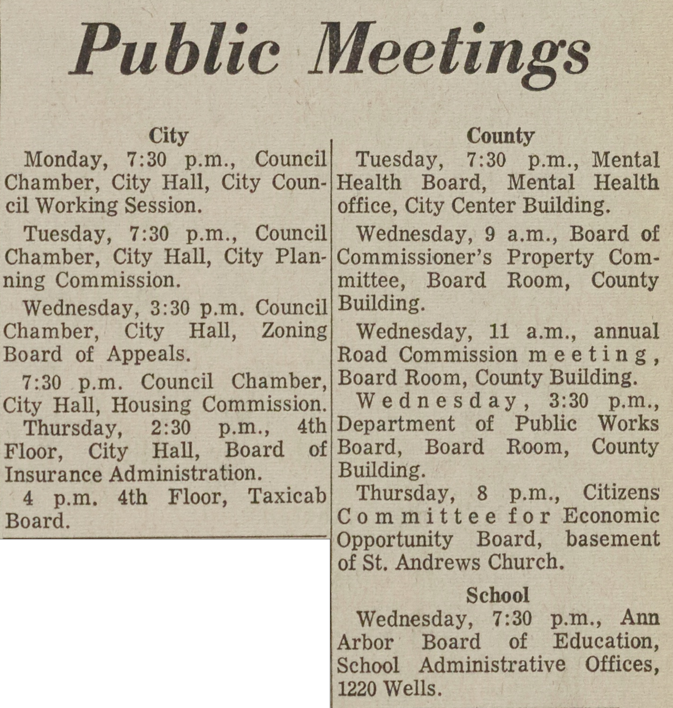 Public Meetings image