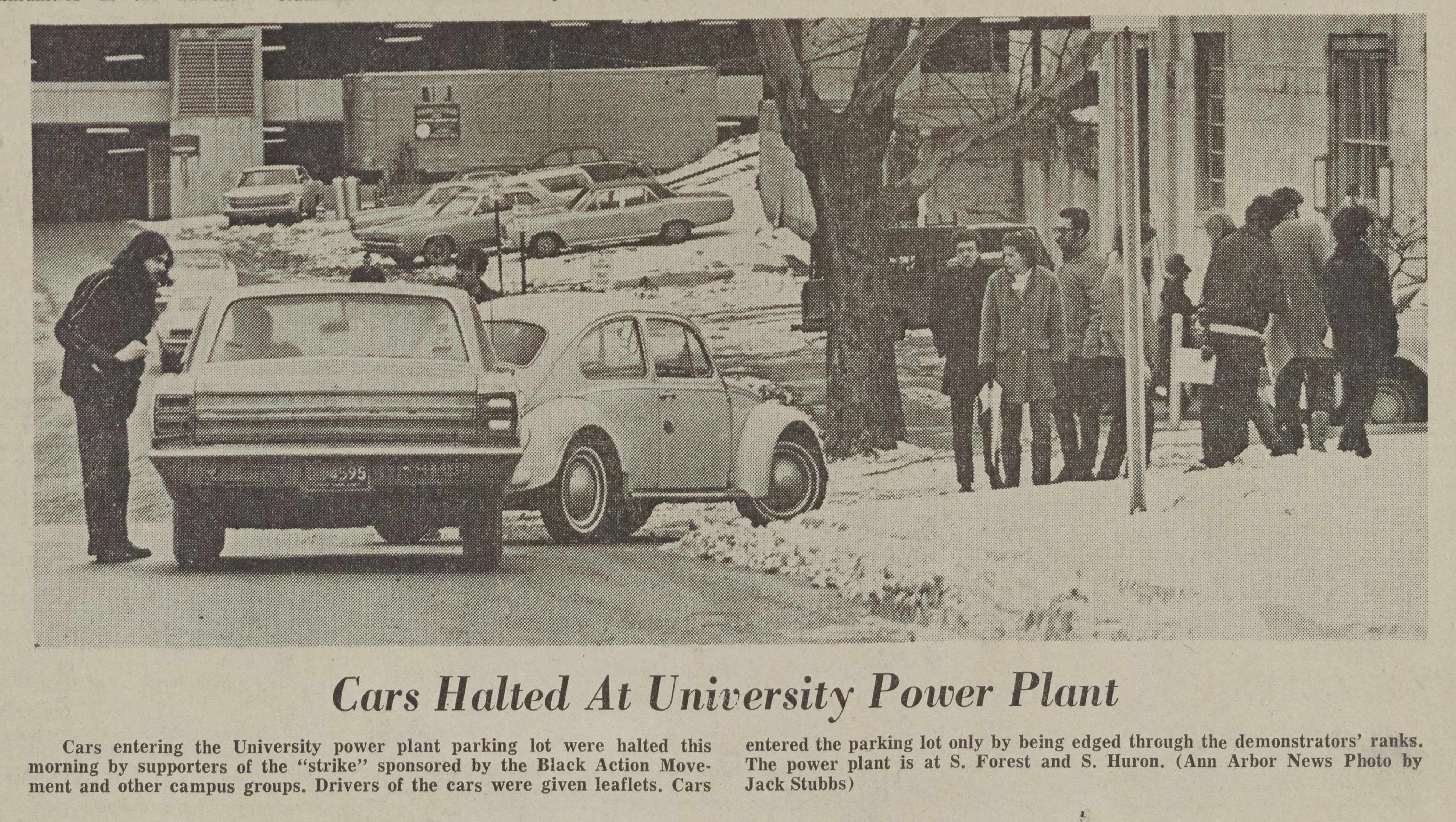 Cars Halted At University Power Plant image