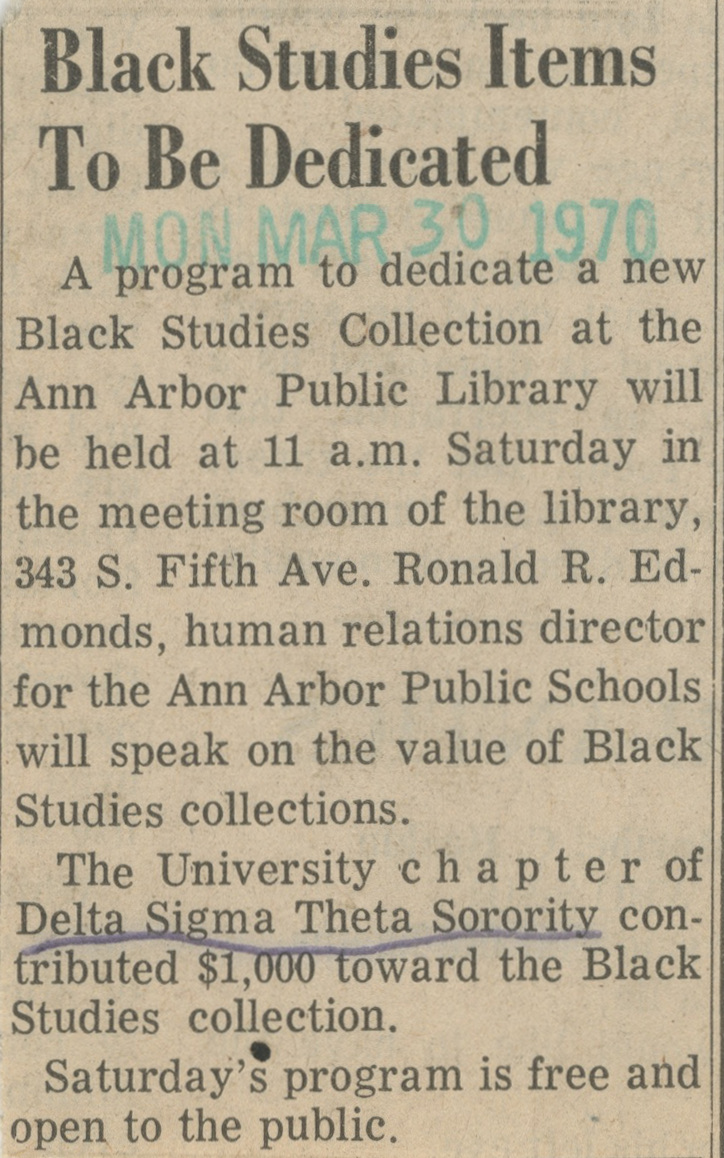 Black Studies Items To Be Dedicated image