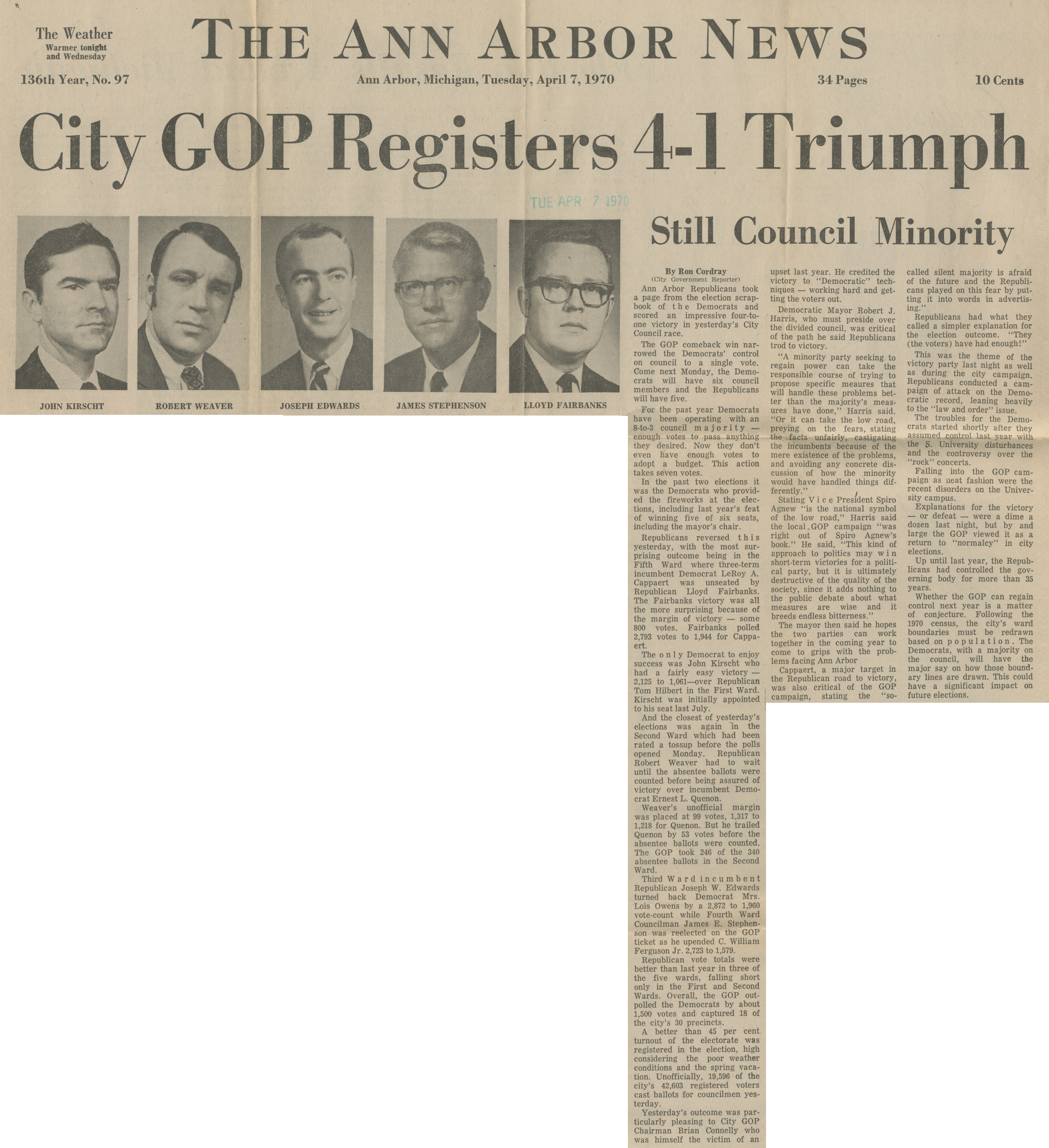 City GOP Registers 4-1 Triumph image
