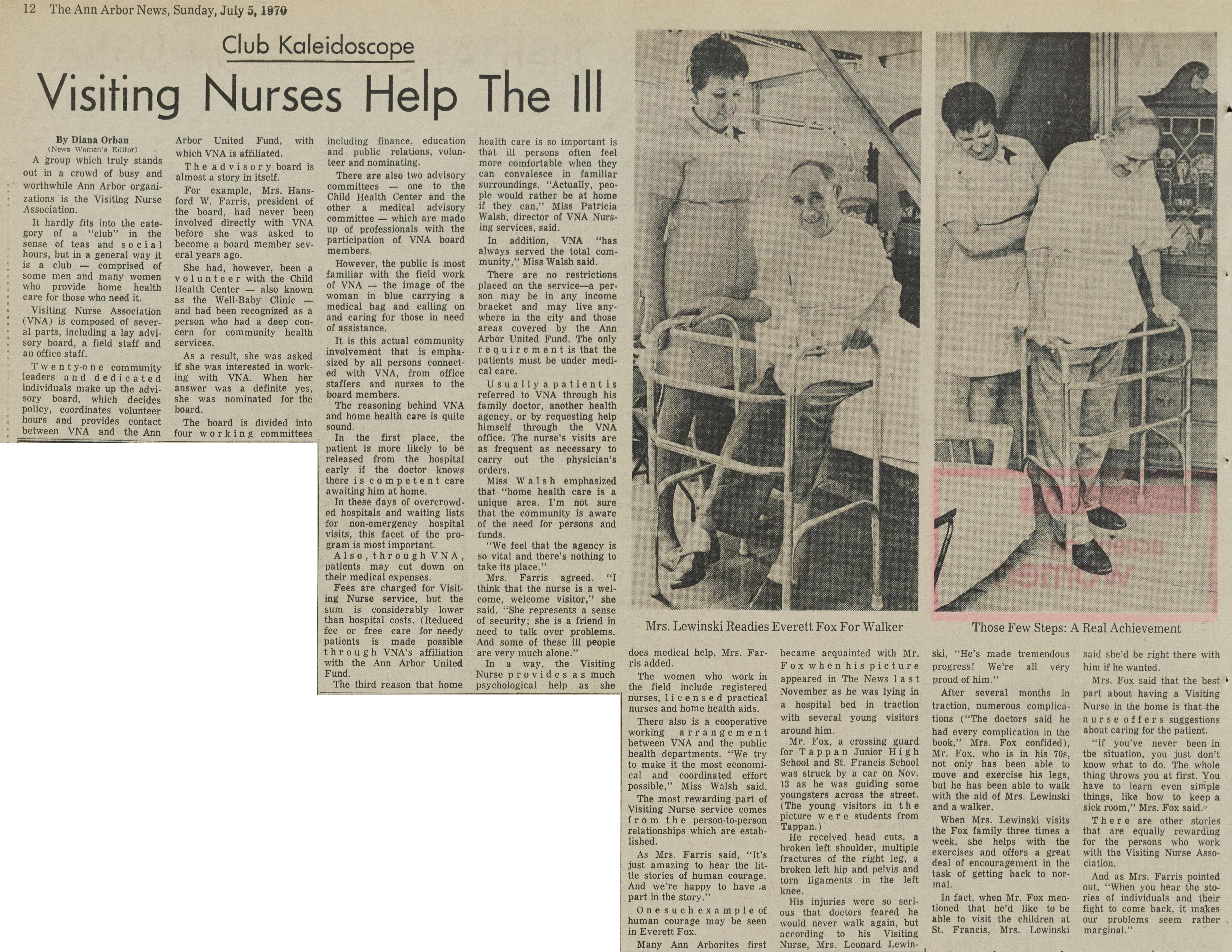 Visiting Nurses Help The Ill image
