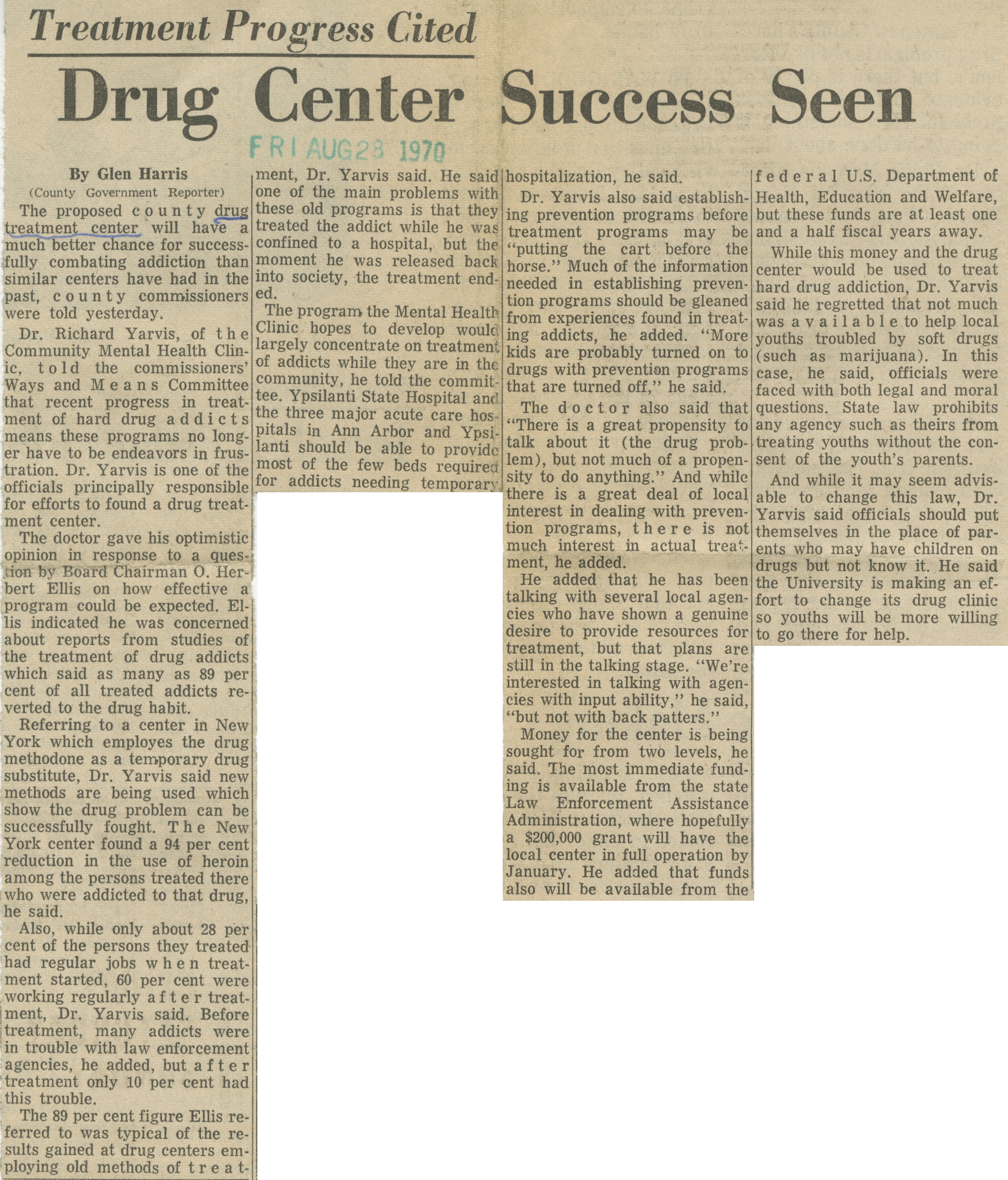 Drug Center Success Seen image