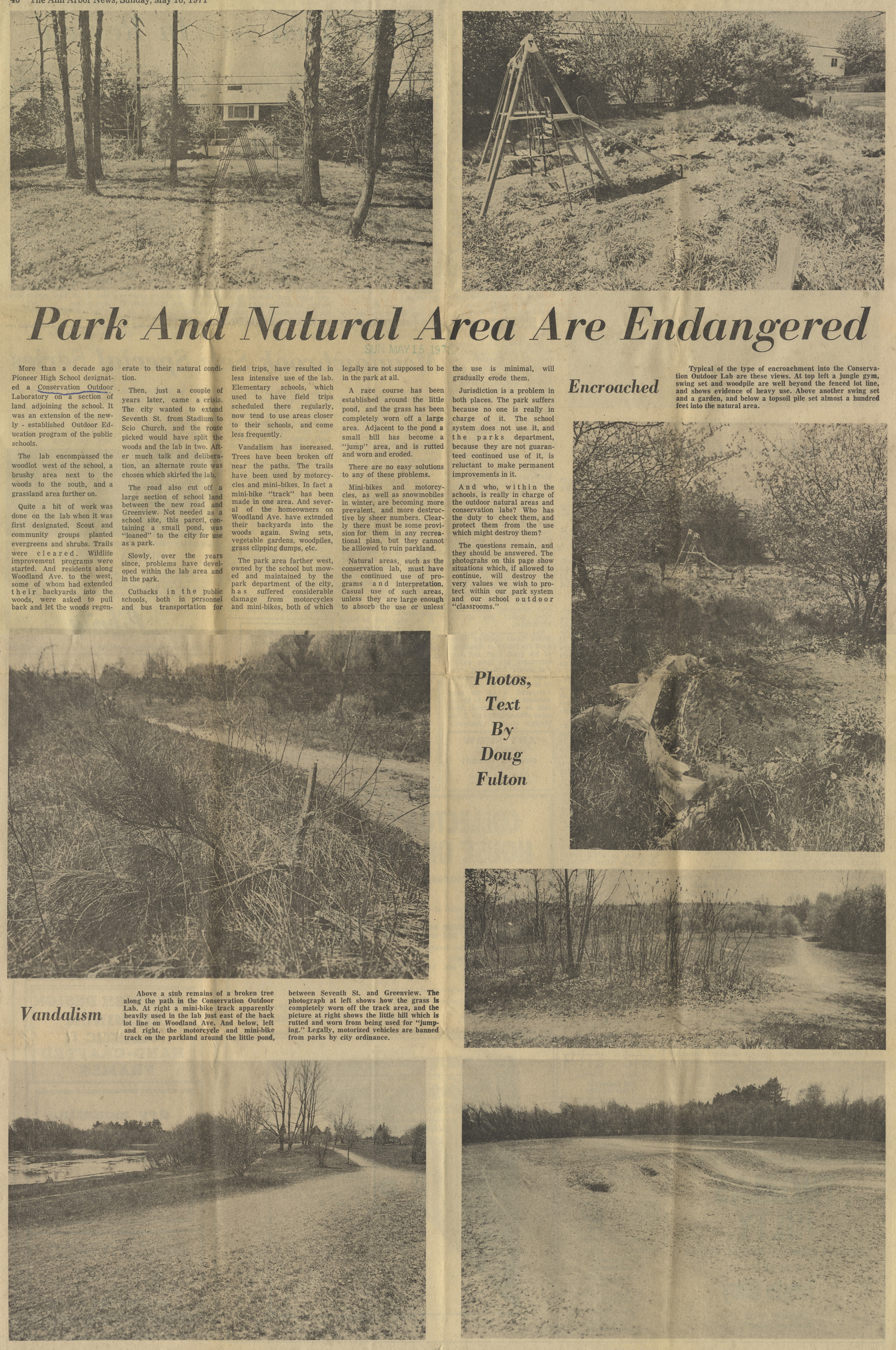 Park And Natural Area Are Endangered image