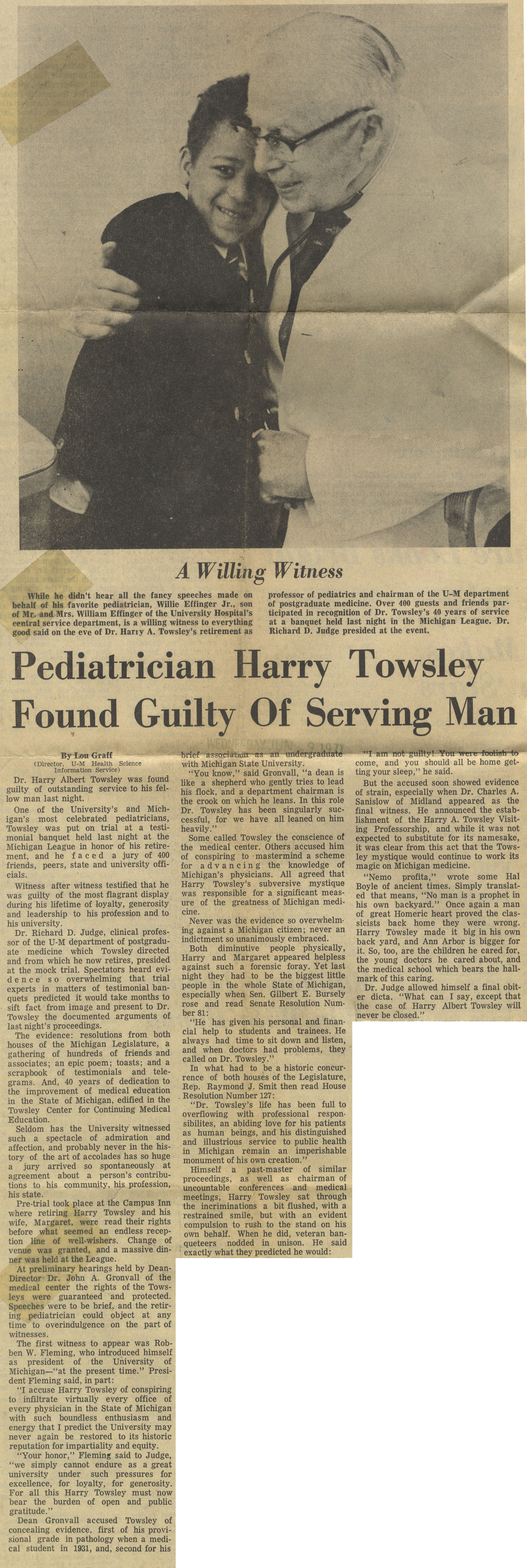 Pediatrician Harry Towsley Found Guilty Of Serving Man image