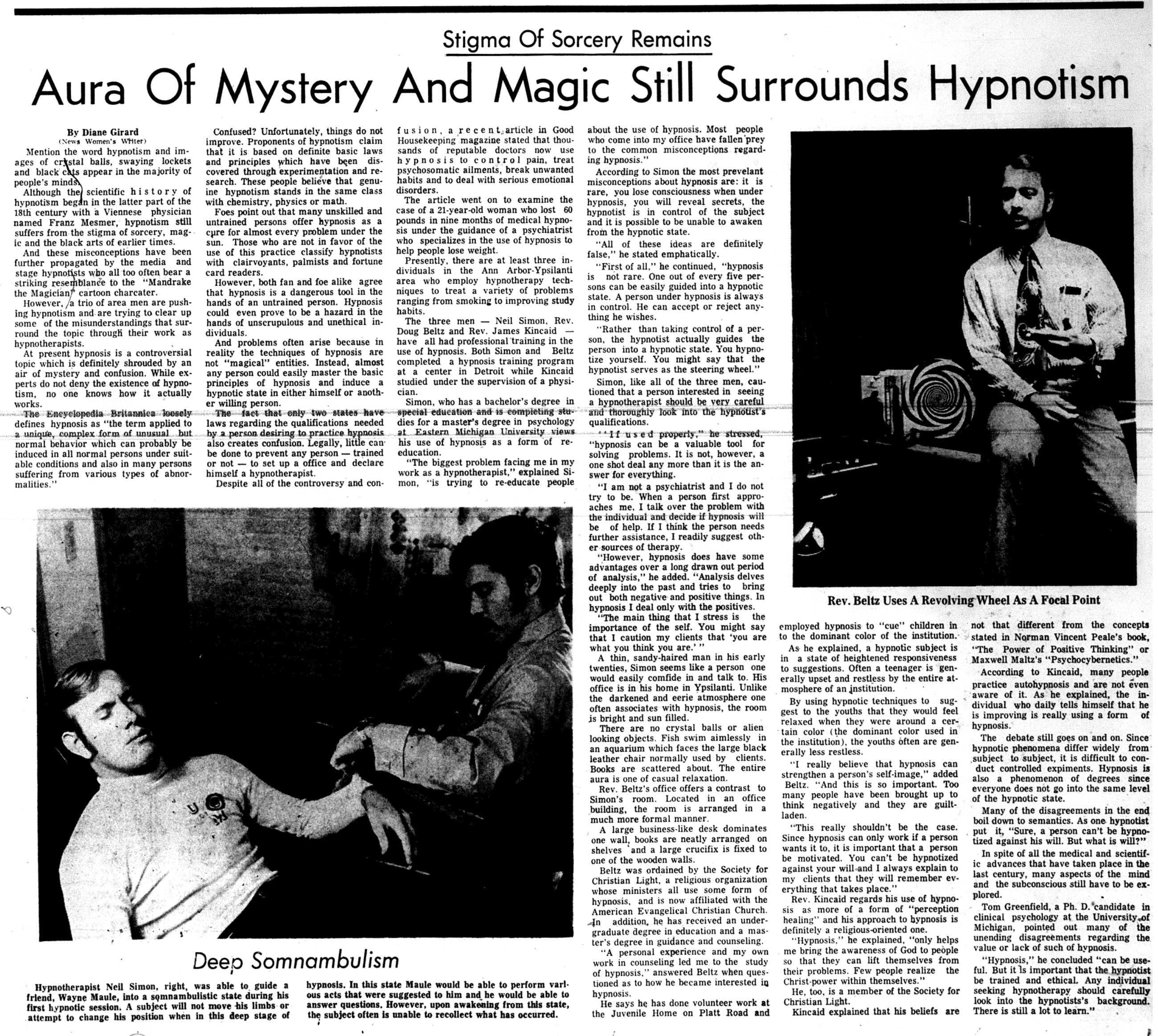 Stigma Of Sorcery Remains. Aura Of Mystery And Magic Still Surrounds Hypnotism image