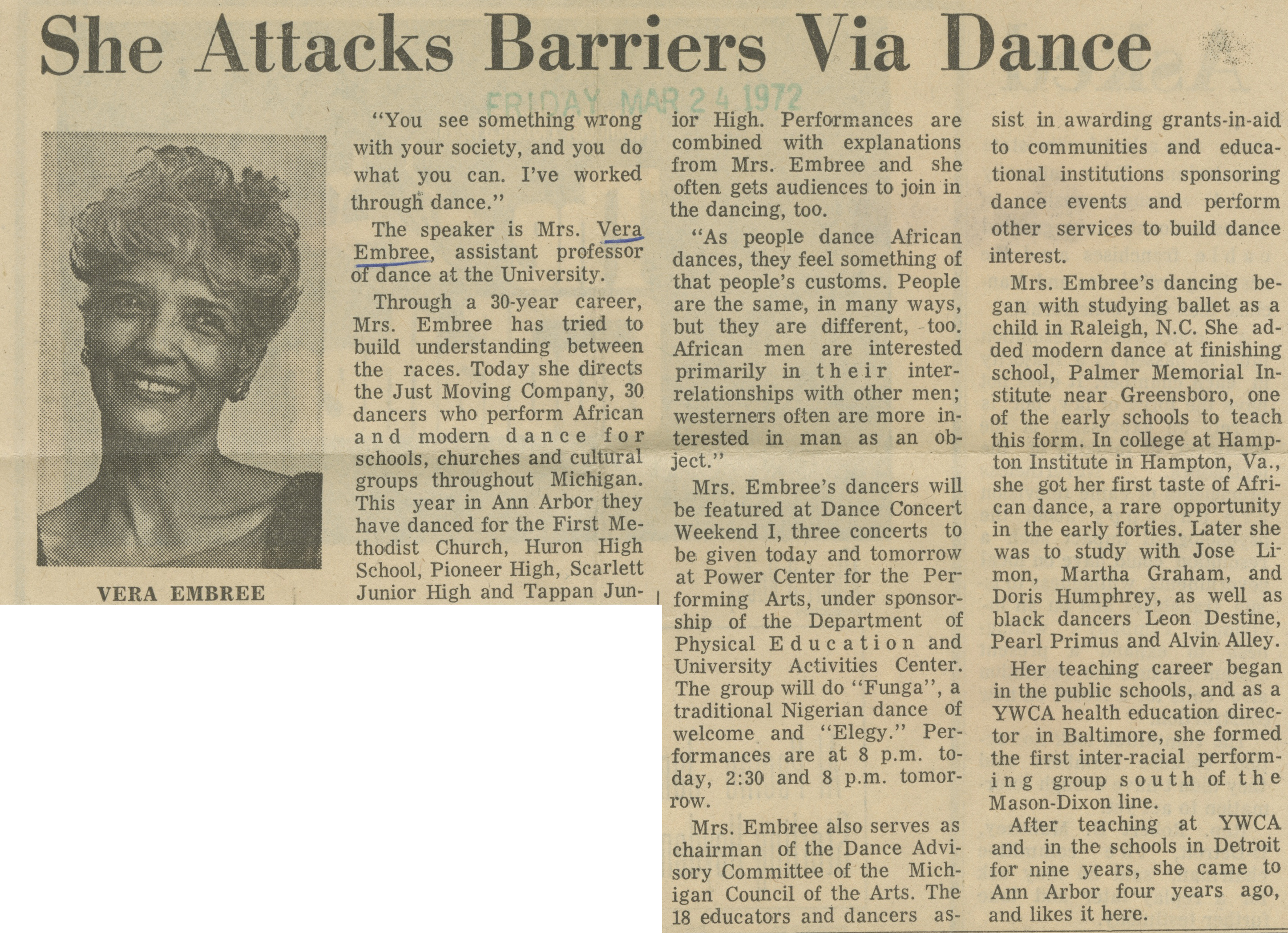 She Attacks Barriers Via Dance image