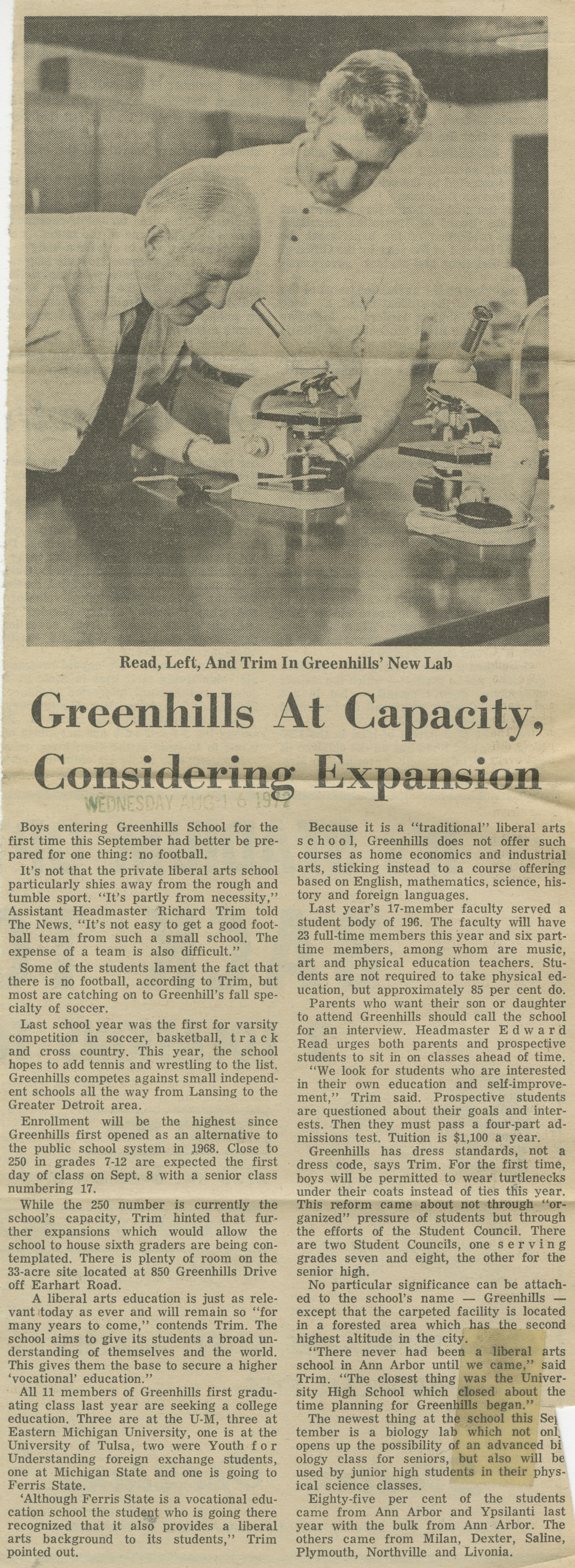 Greenhills At Capacity, Considering Expansion image