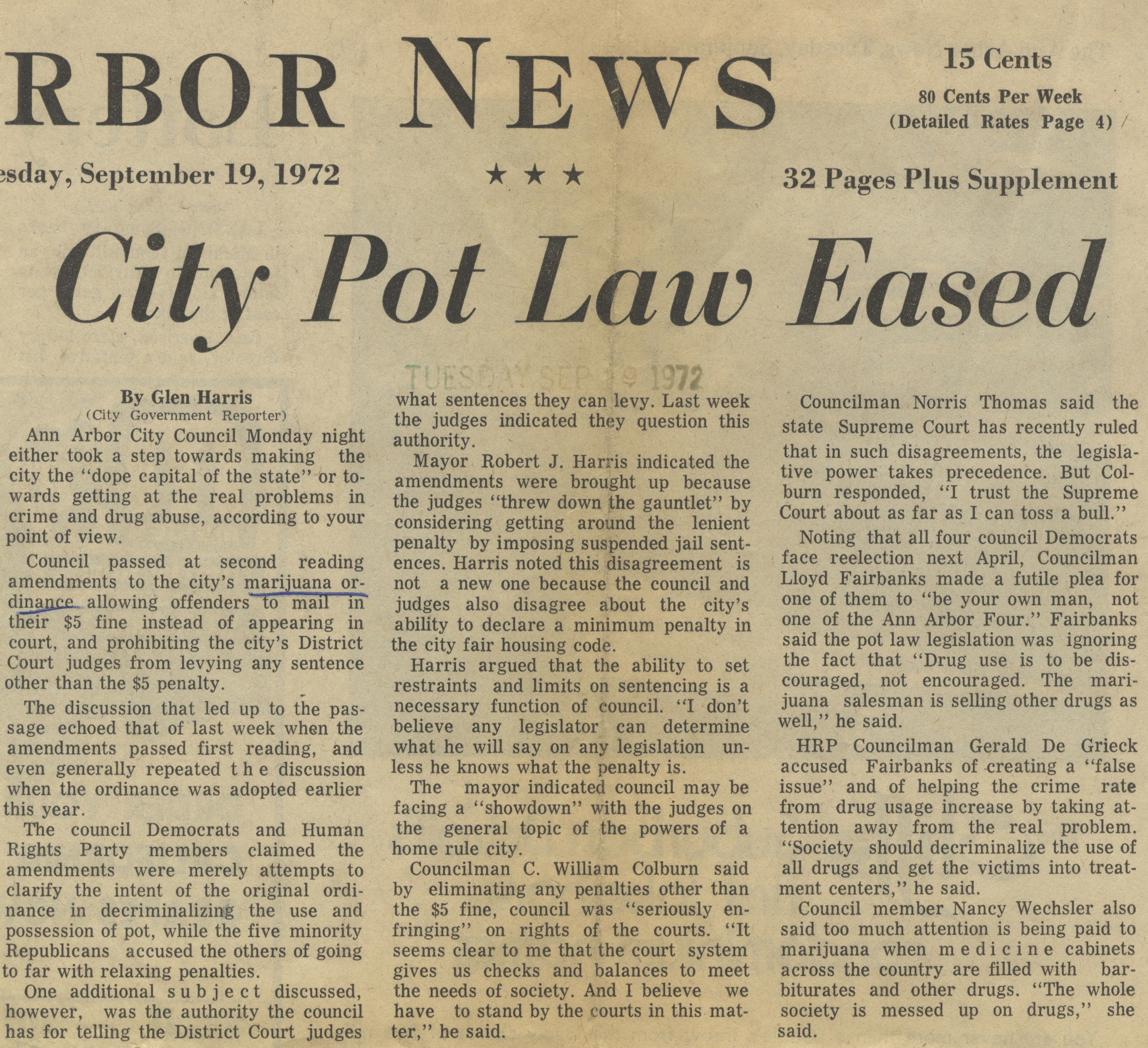 City Pot Law Eased image