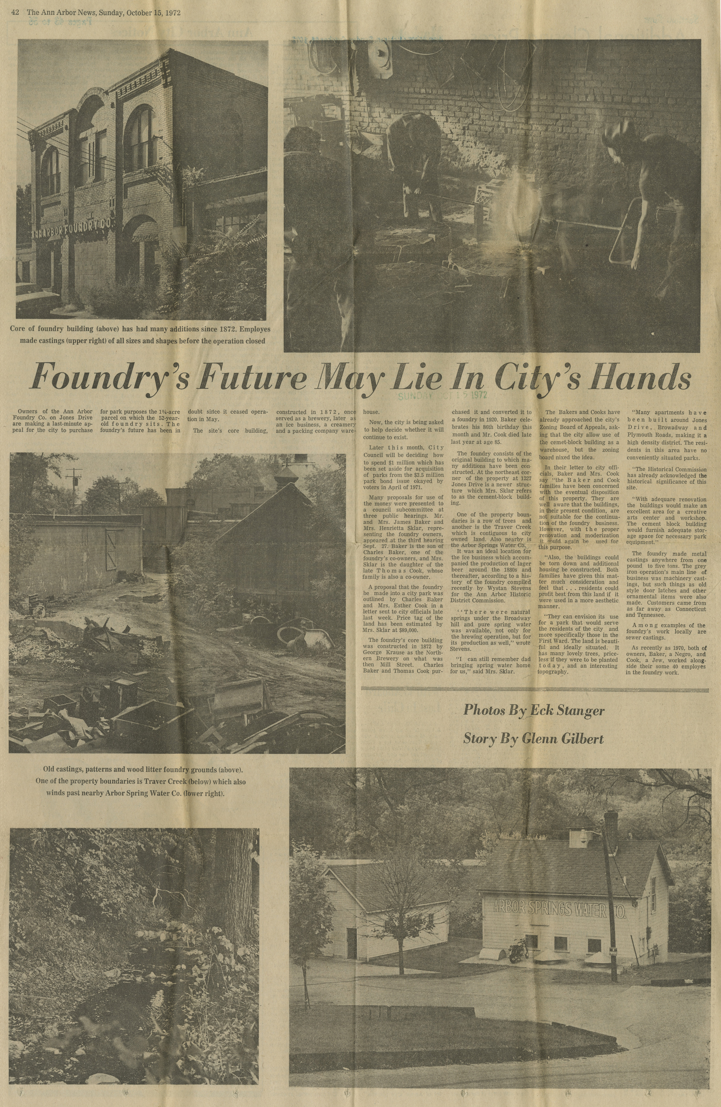 Foundry's Future May Lie In City's Hands image