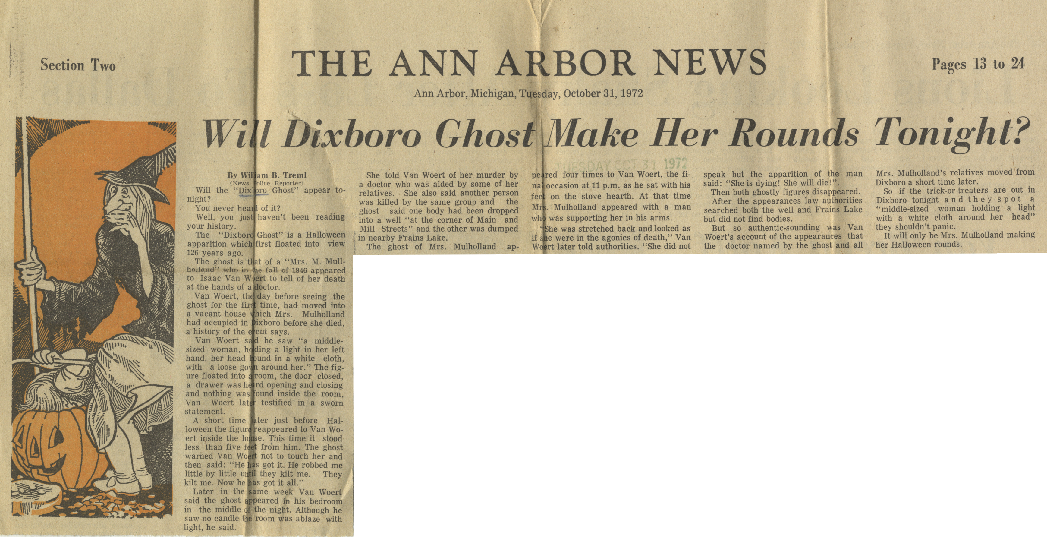 Will Dixboro Ghost Make Her Rounds Tonight? image