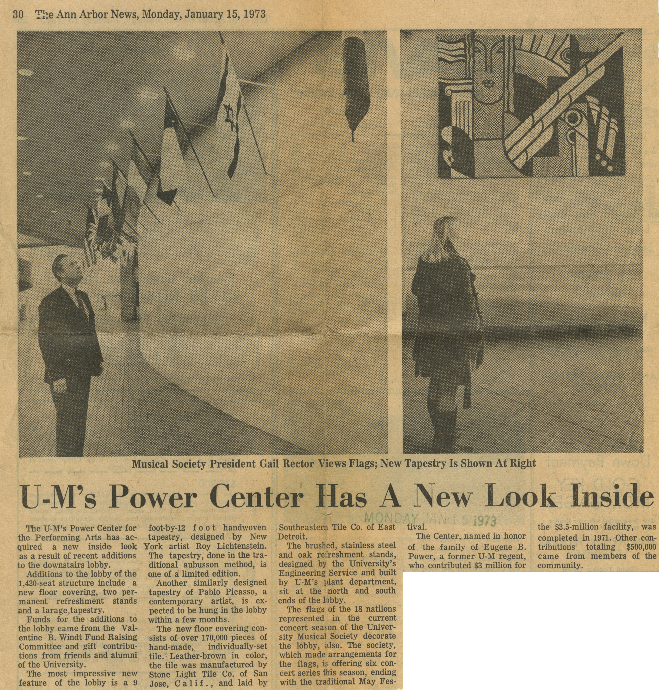 U-M's Power Center Has A New Look Inside image