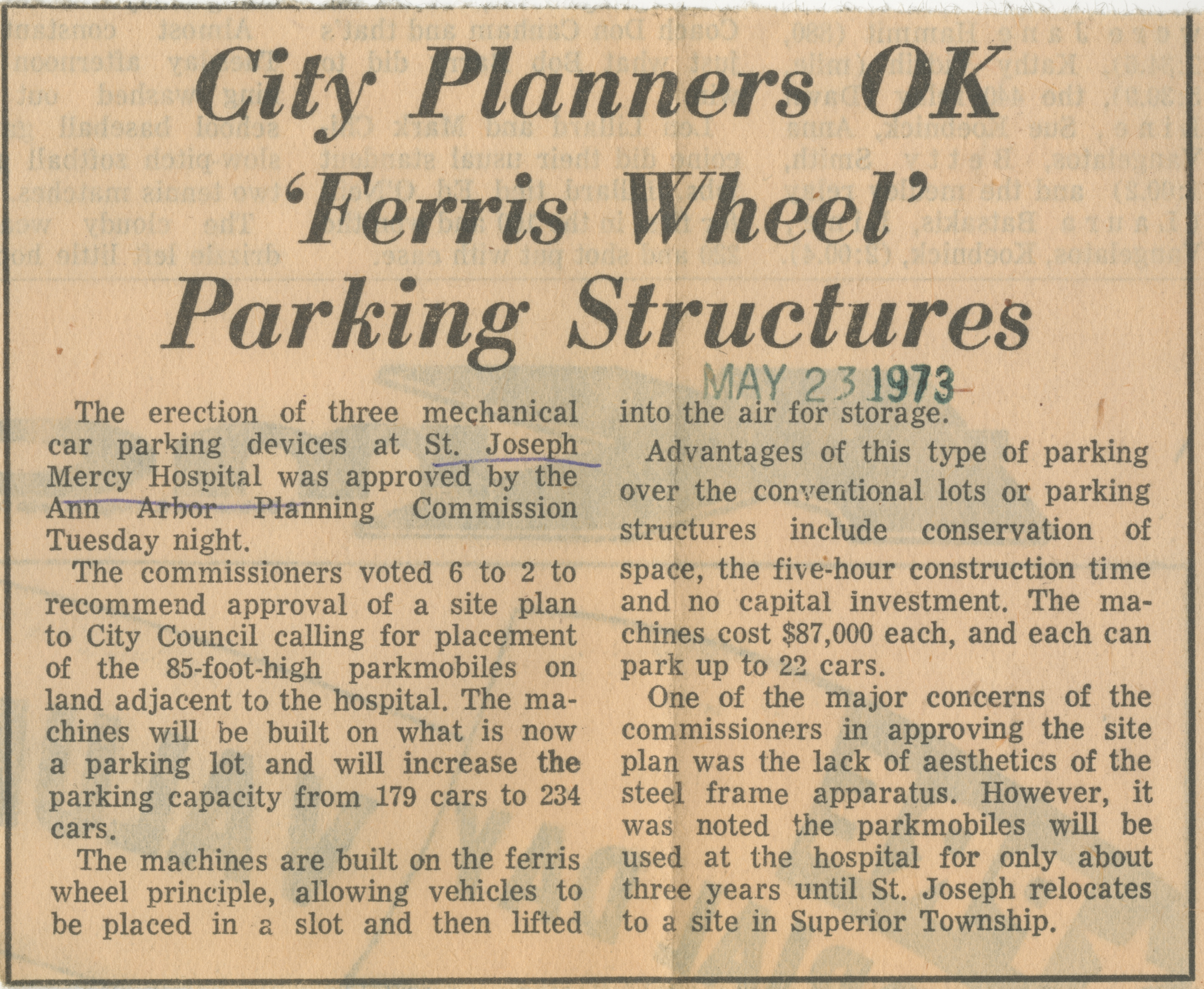 City Planners OK 'Ferris Wheel' Parking Structures image