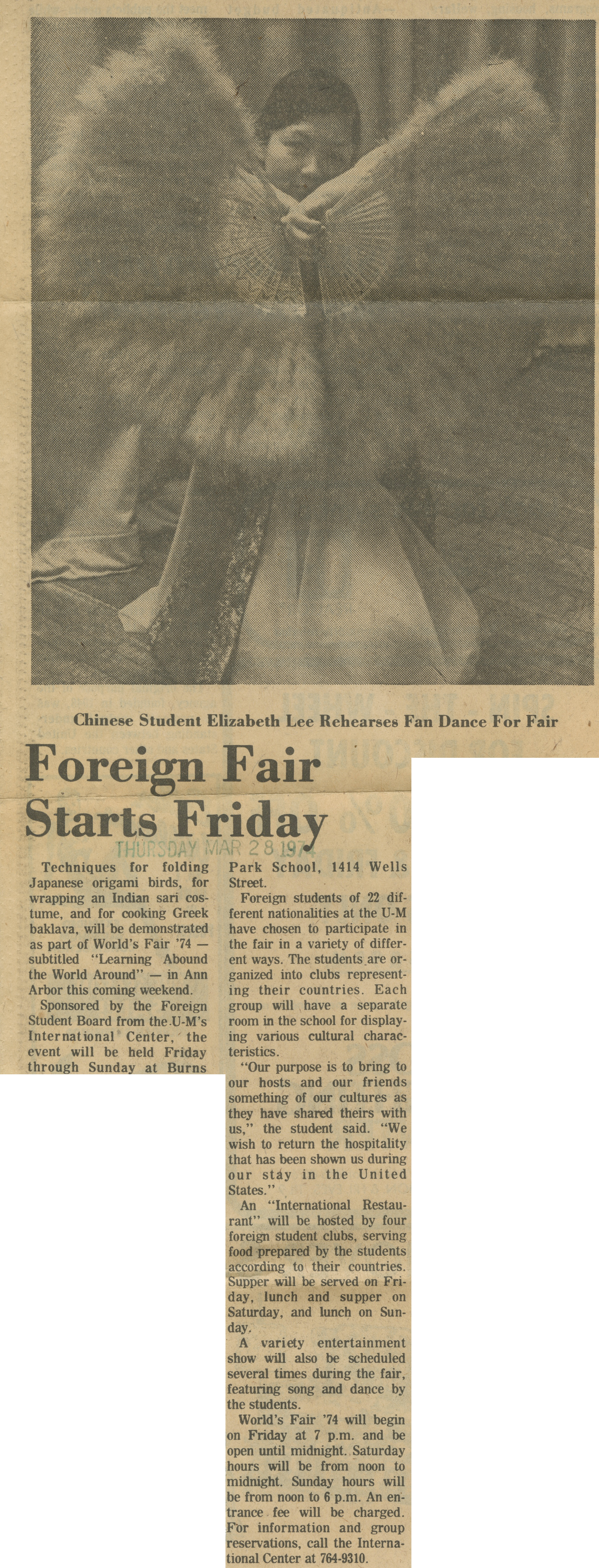 Foreign Fair Starts Friday image