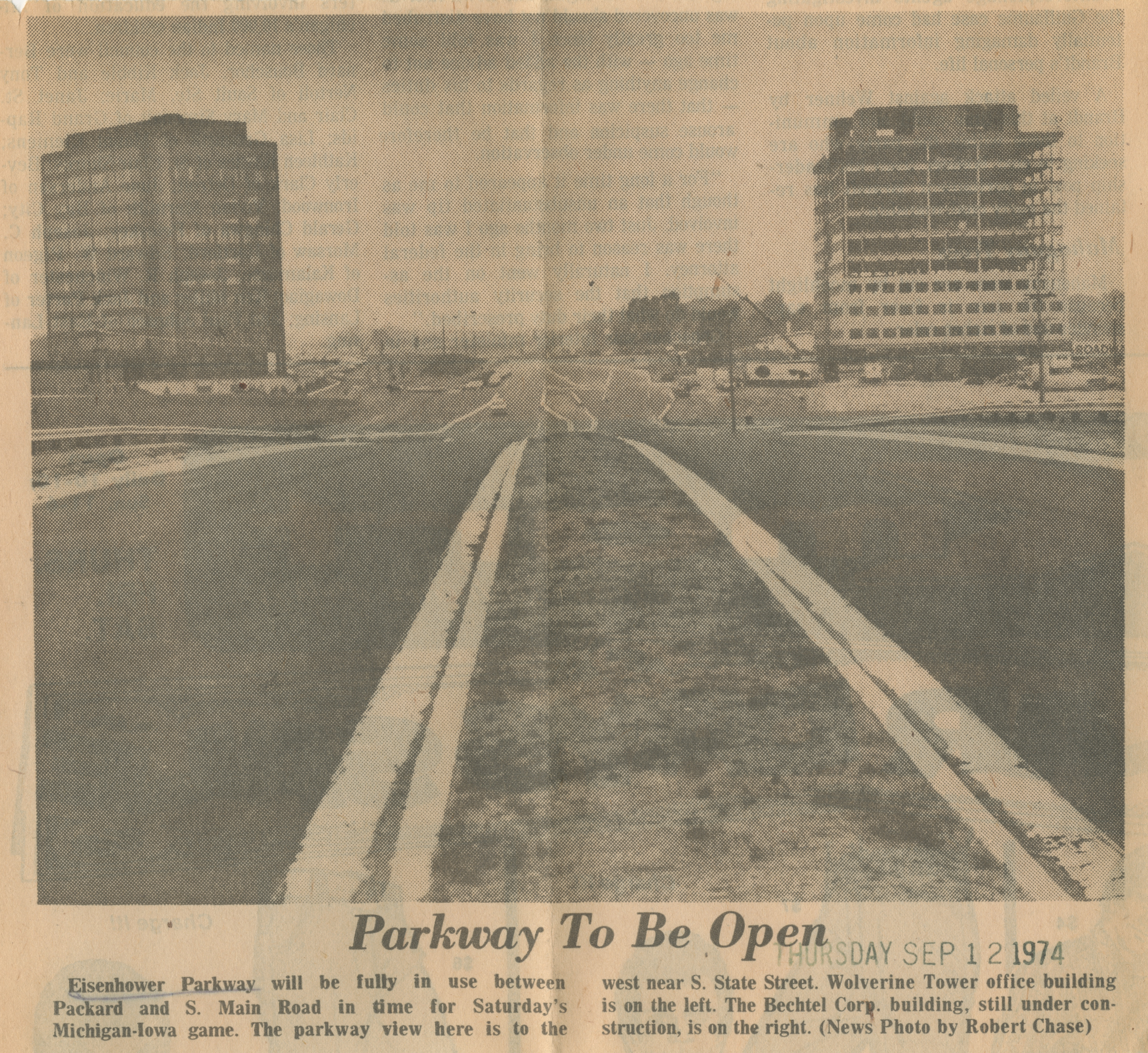 Parkway To Be Open image