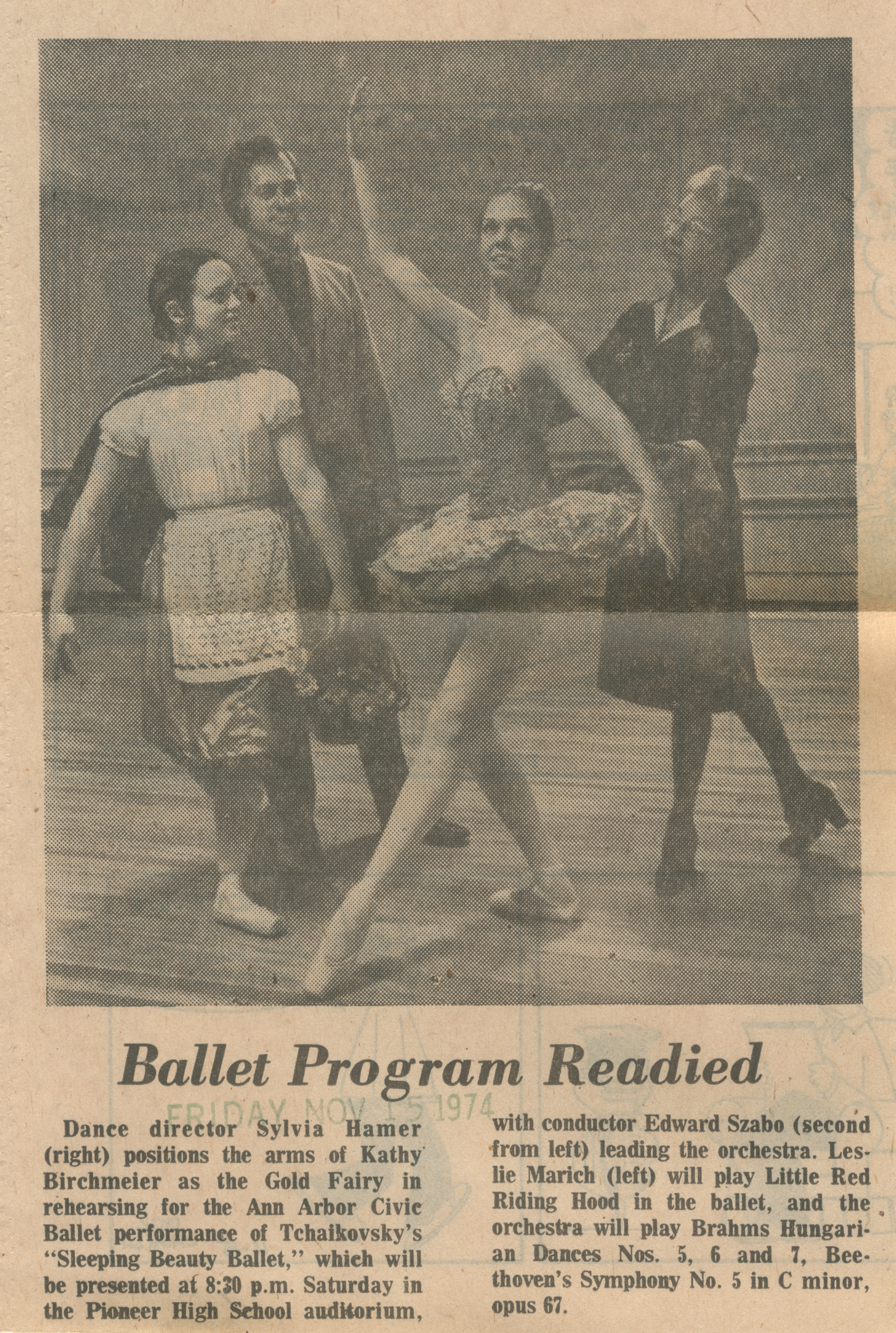 Ballet Program Readied image