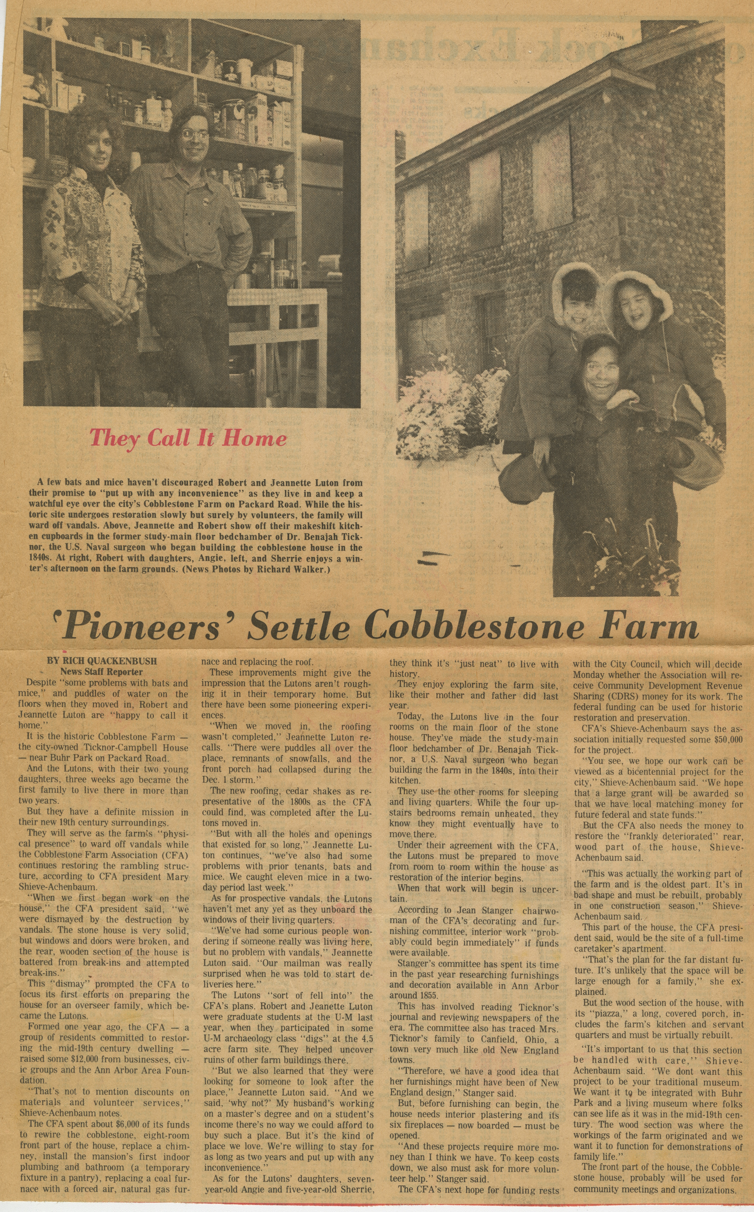 'Pioneers' Settle Cobblestone Farm image
