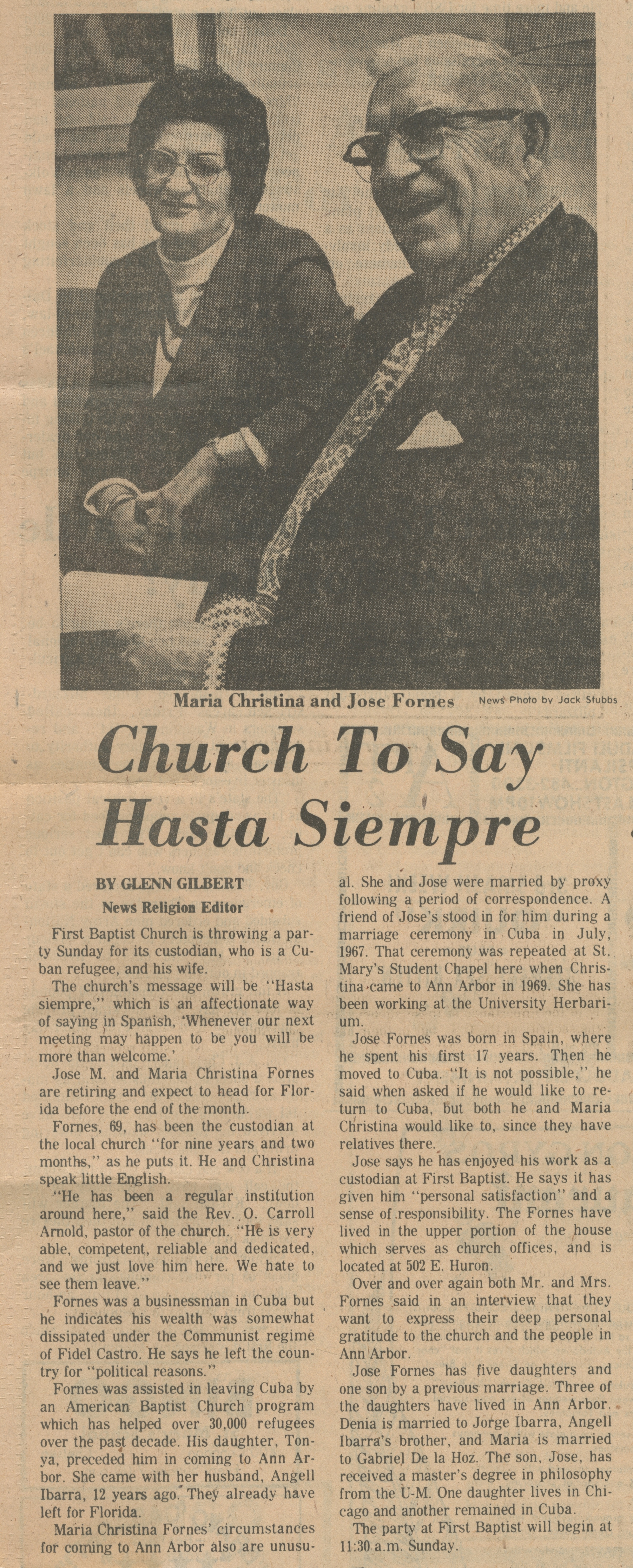 Church To Say Hasta Siempre image