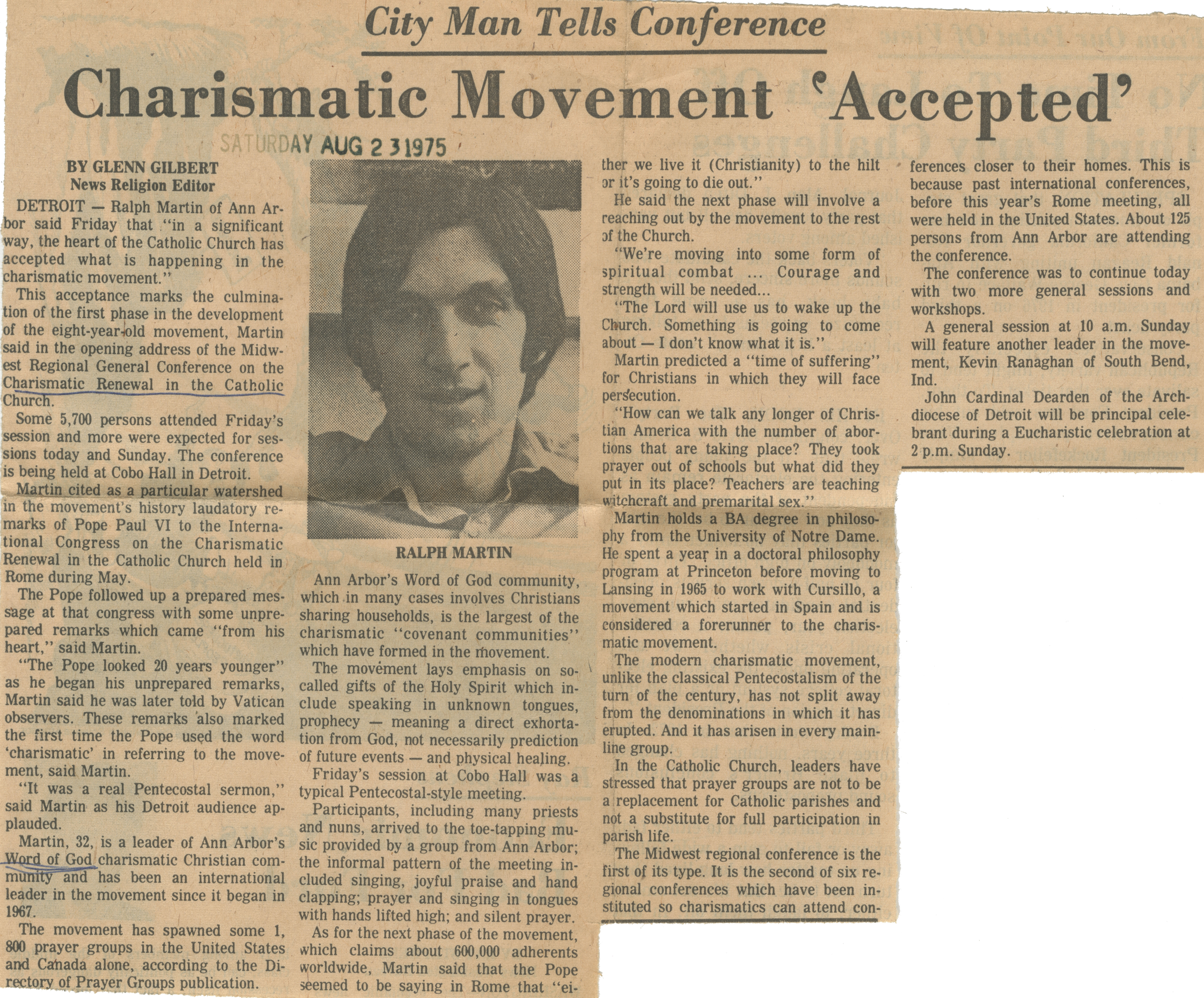 Charismatic Movement 'Accepted' image