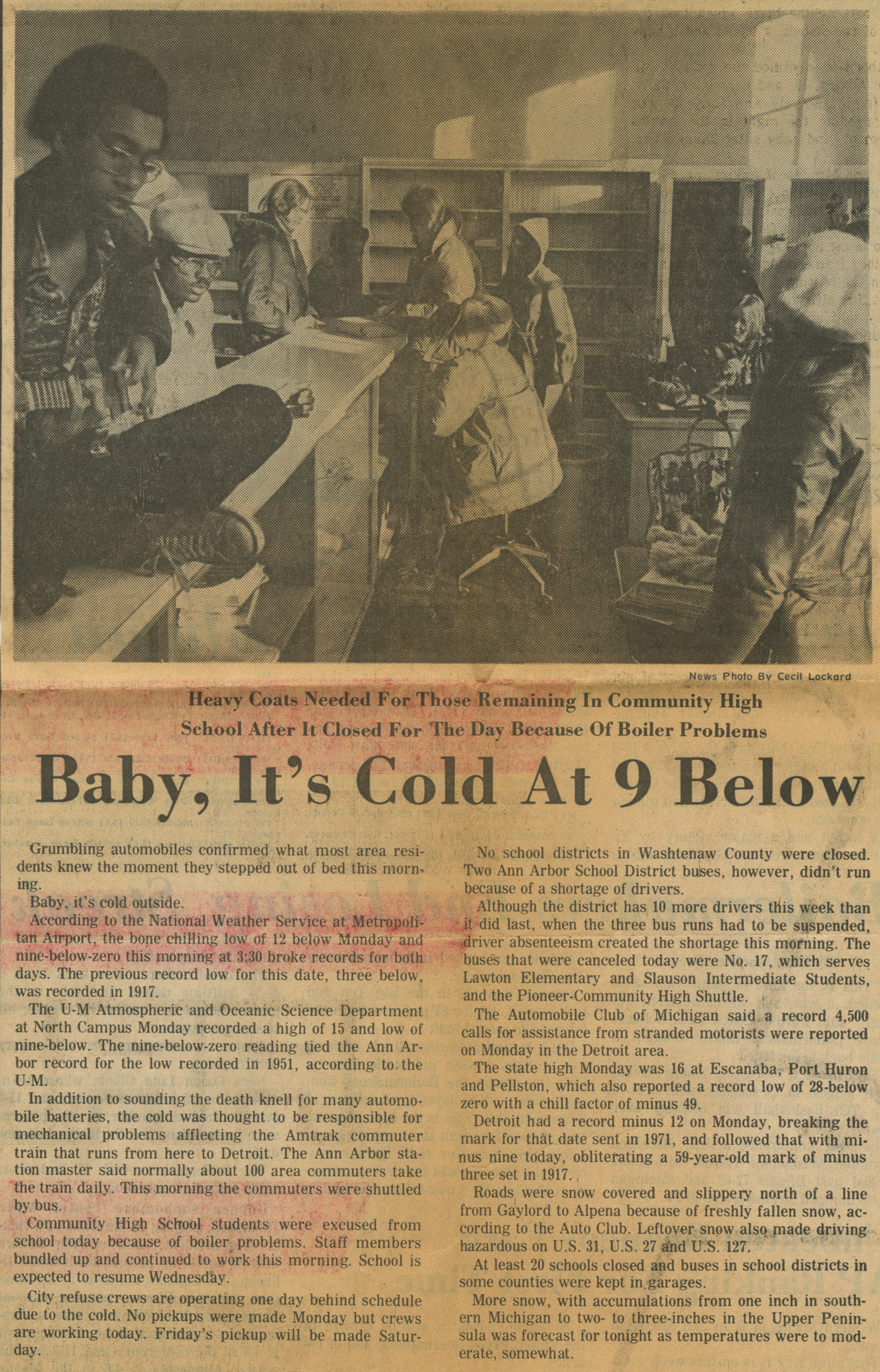 Baby, It's Cold At 9 Below image