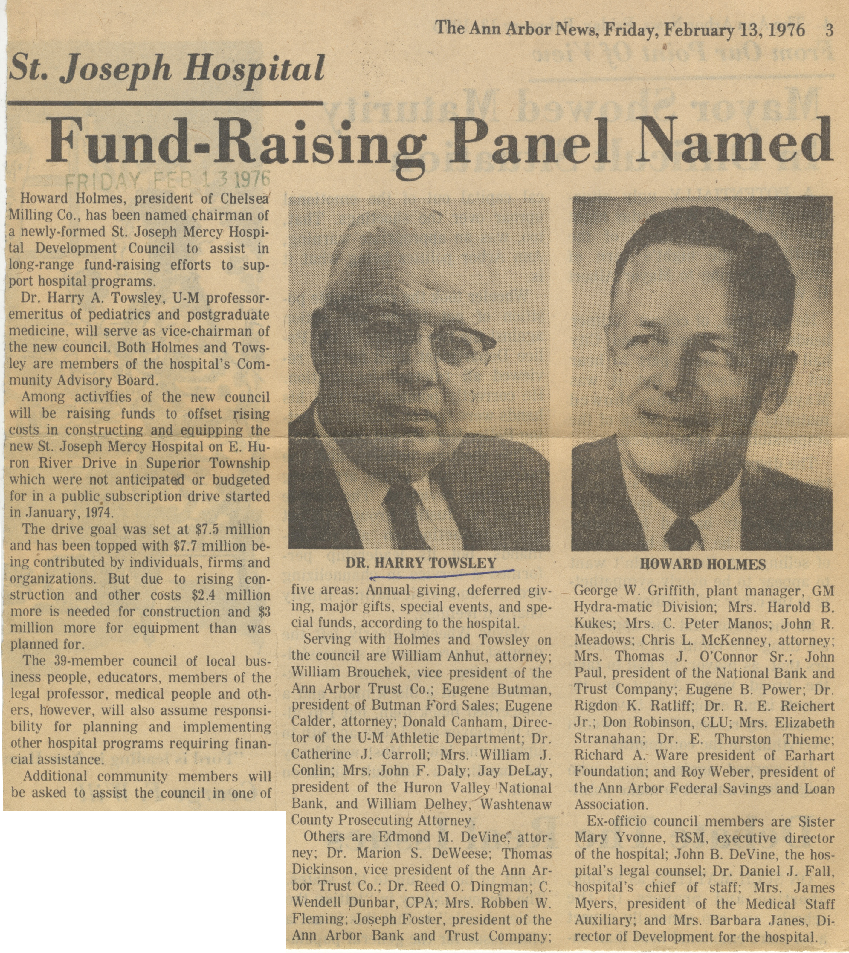Fund Raising Panel Named image