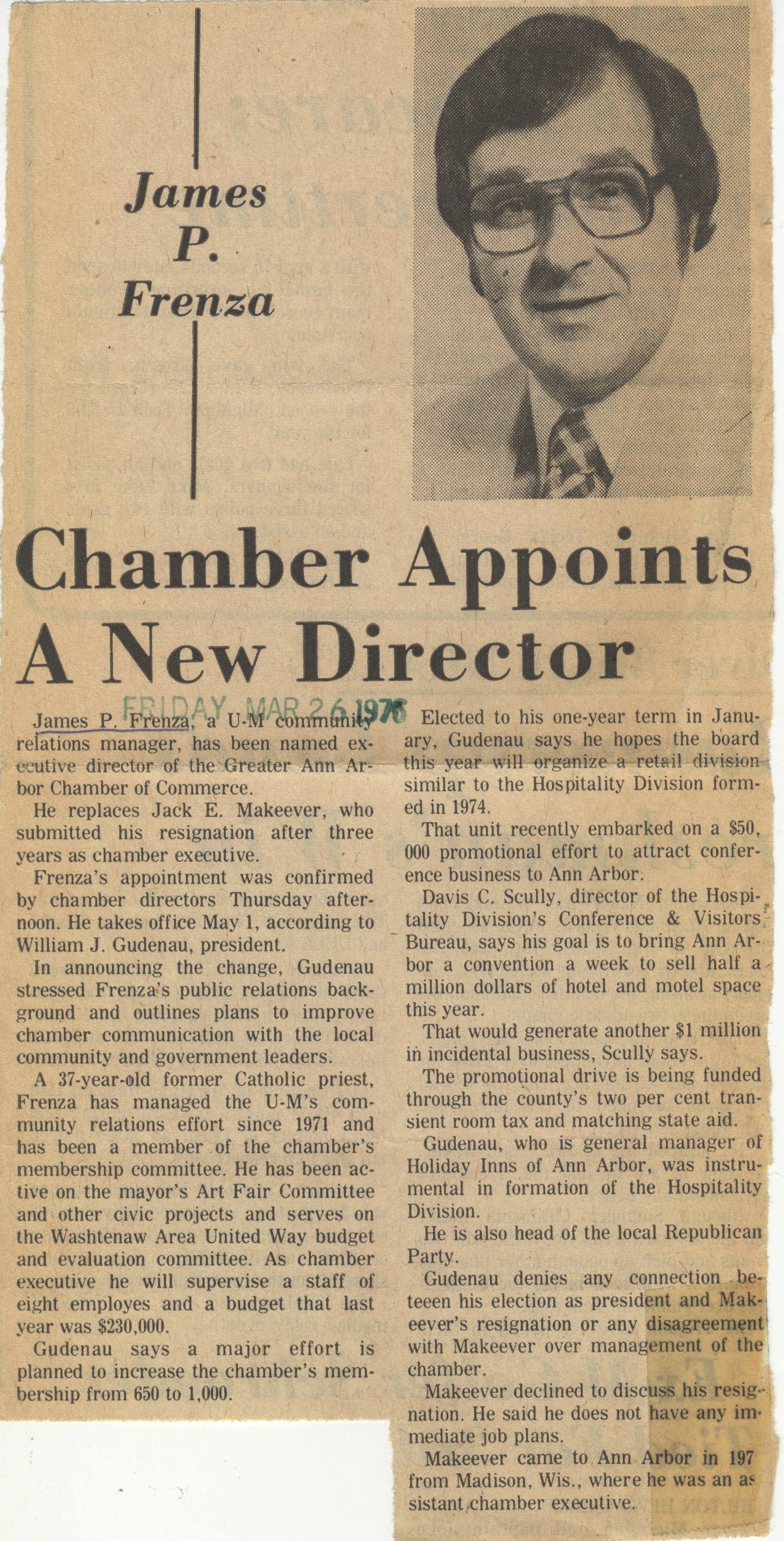 Chamber Appoints A New Director image
