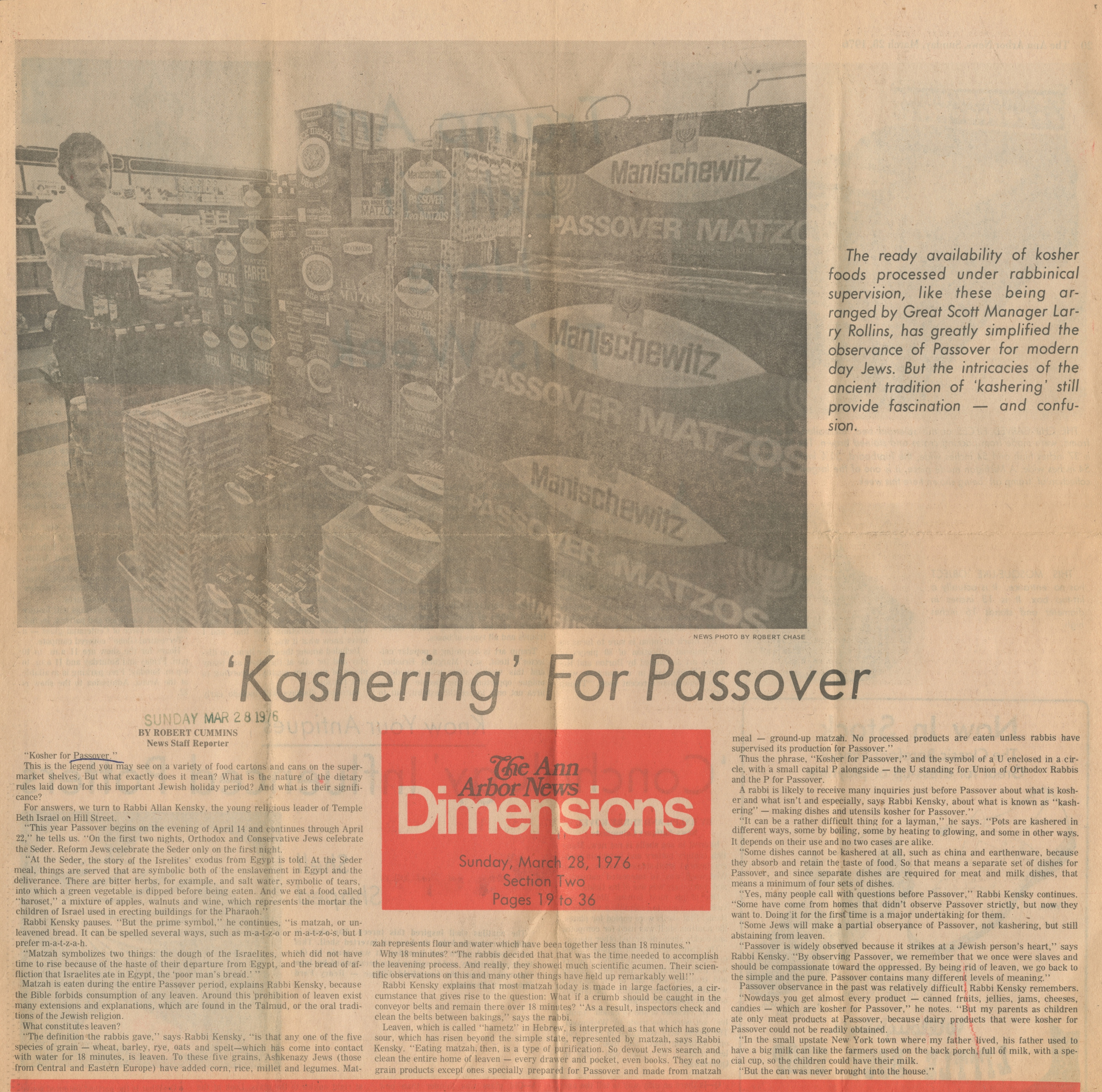 'Kashering' For Passover image