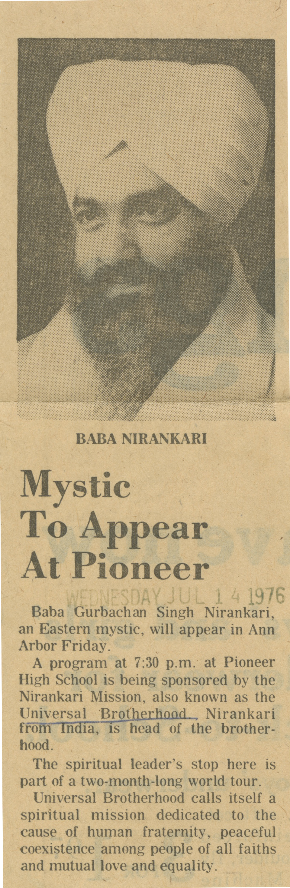 Mystic To Appear At Pioneer image