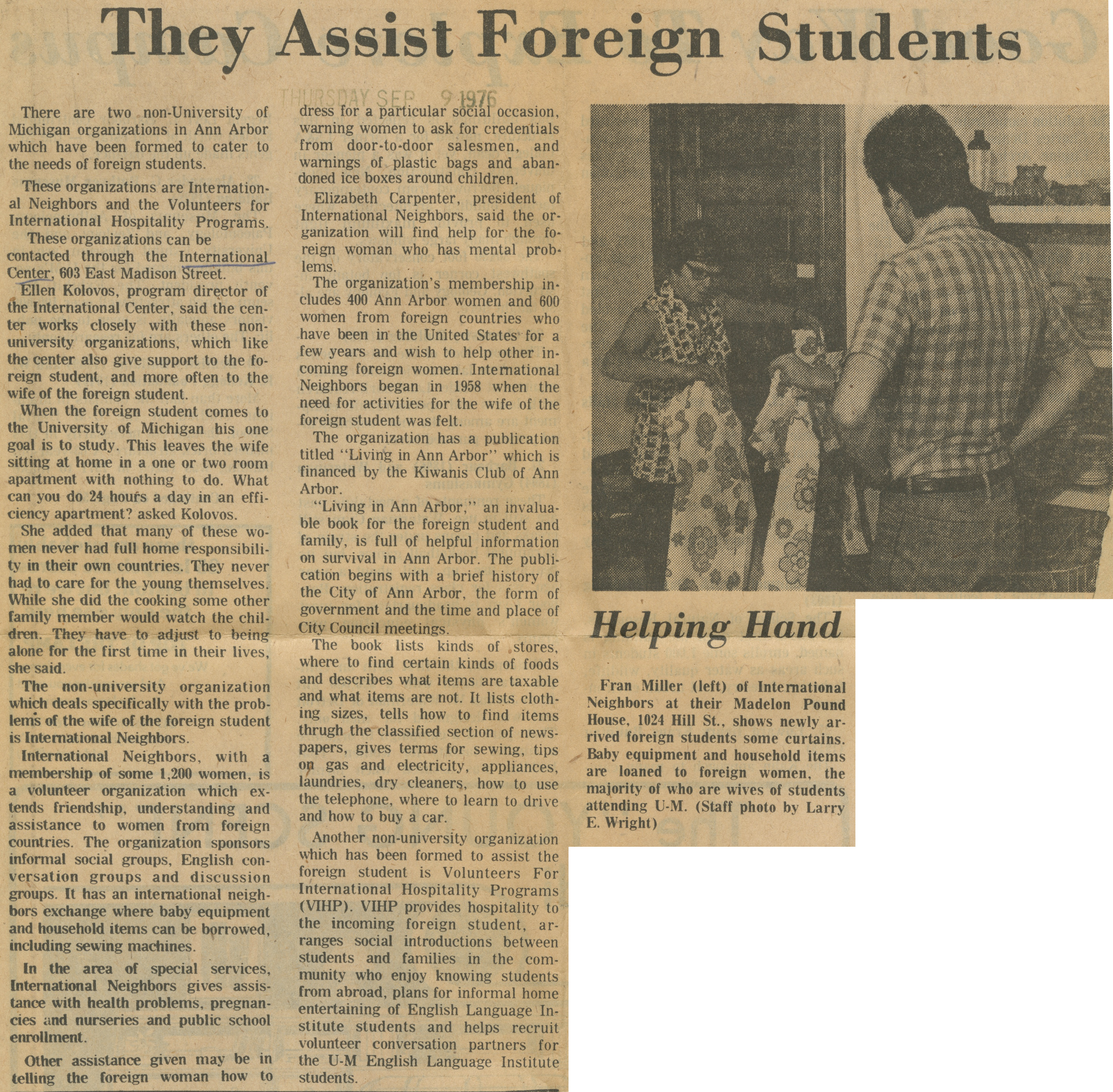 They Assist Foreign Students image