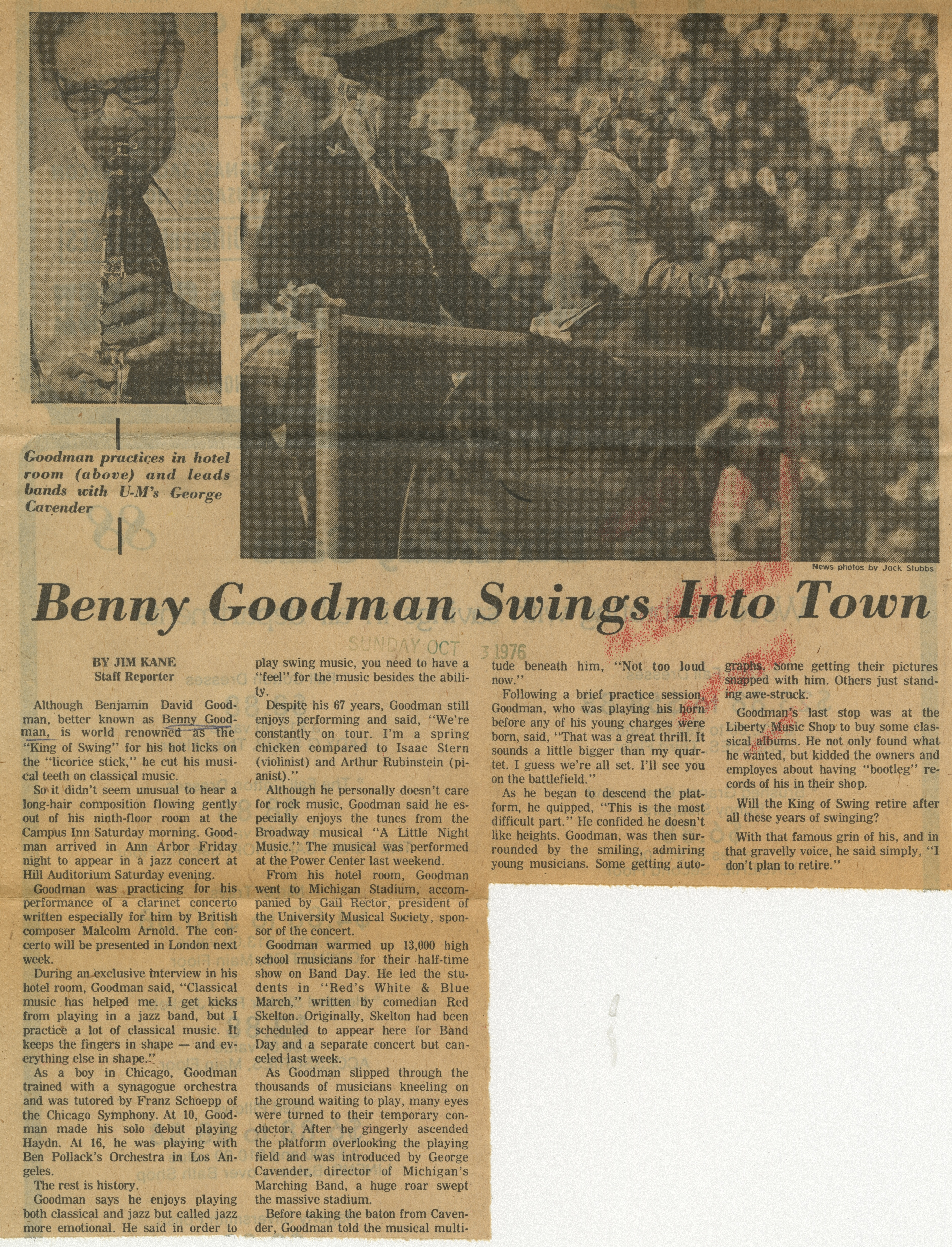 Benny Goodman Swings Into Town image