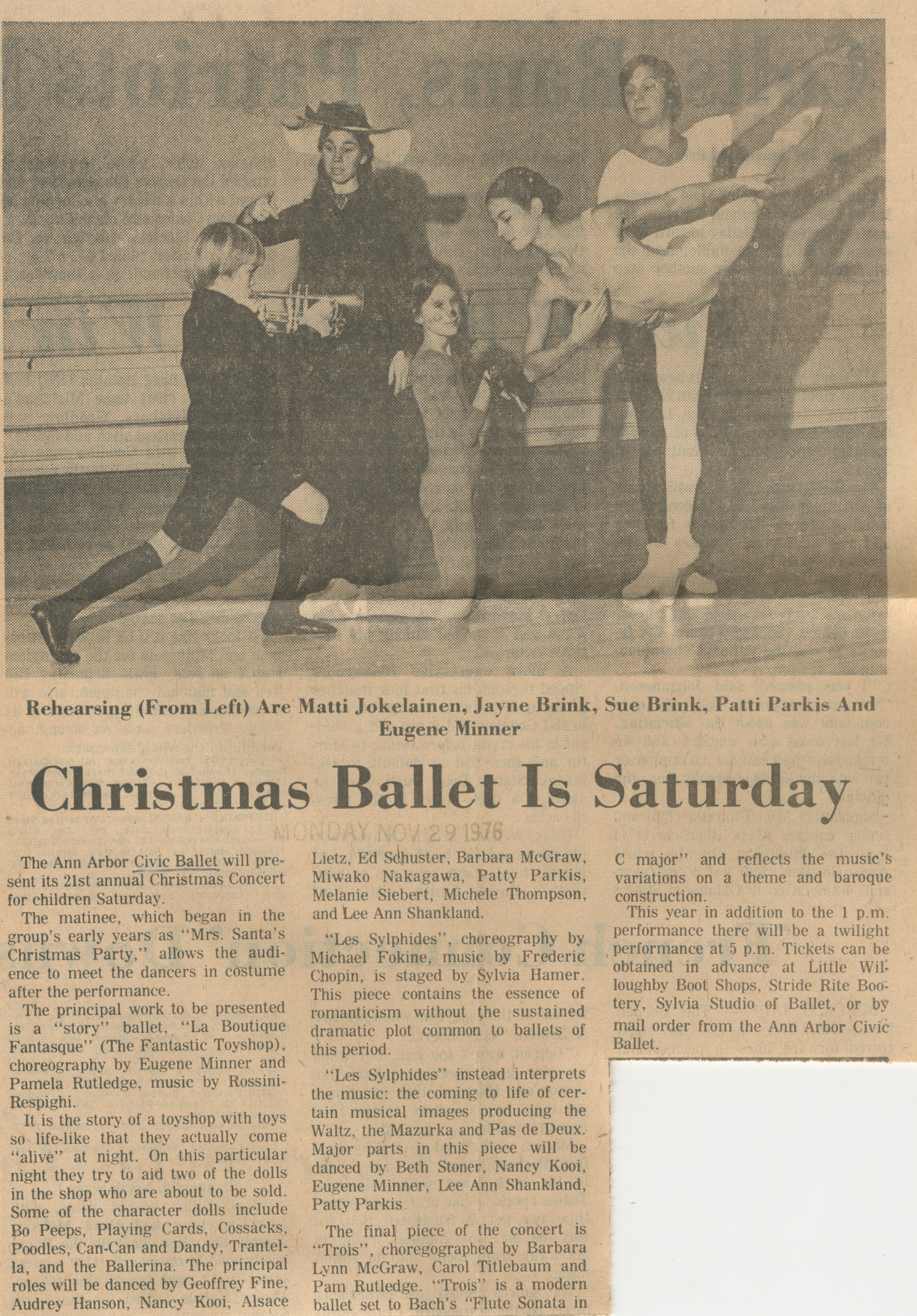 Christmas Ballet Is Saturday image
