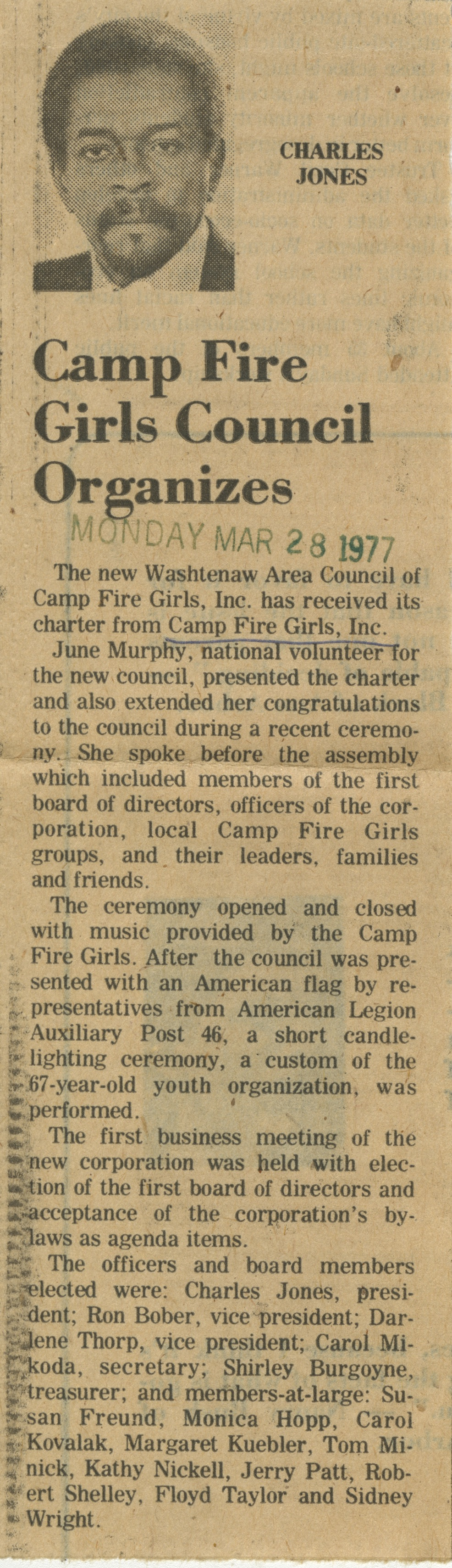 Camp Fire Girls Council Organizes image
