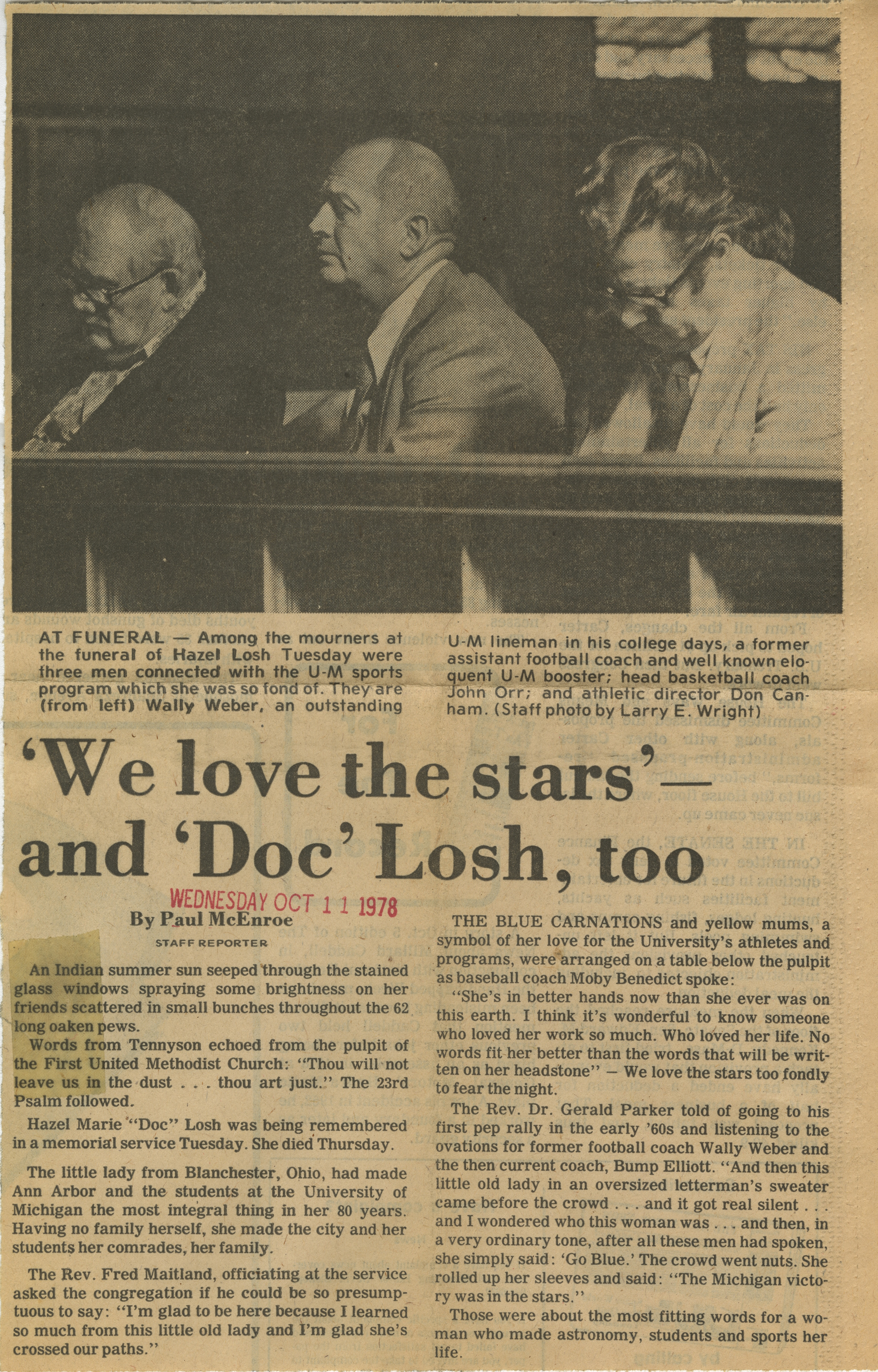 'We love the stars' - and 'Doc' Losh, too image