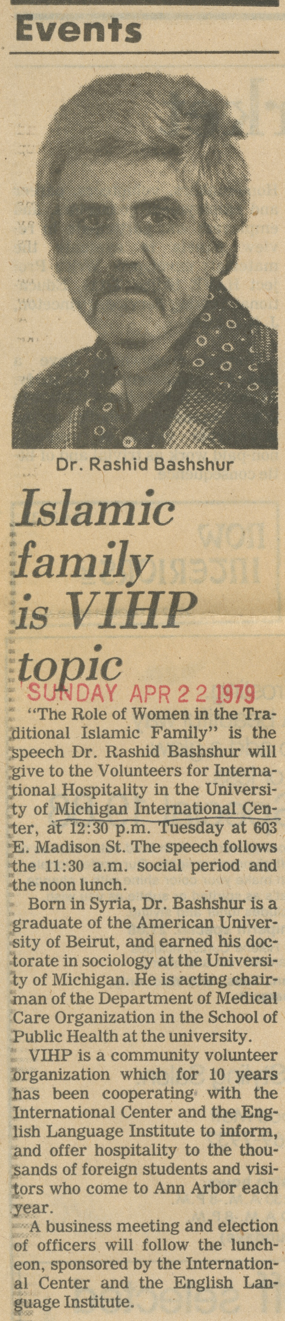 Islamic Family Is VIHP Topic image