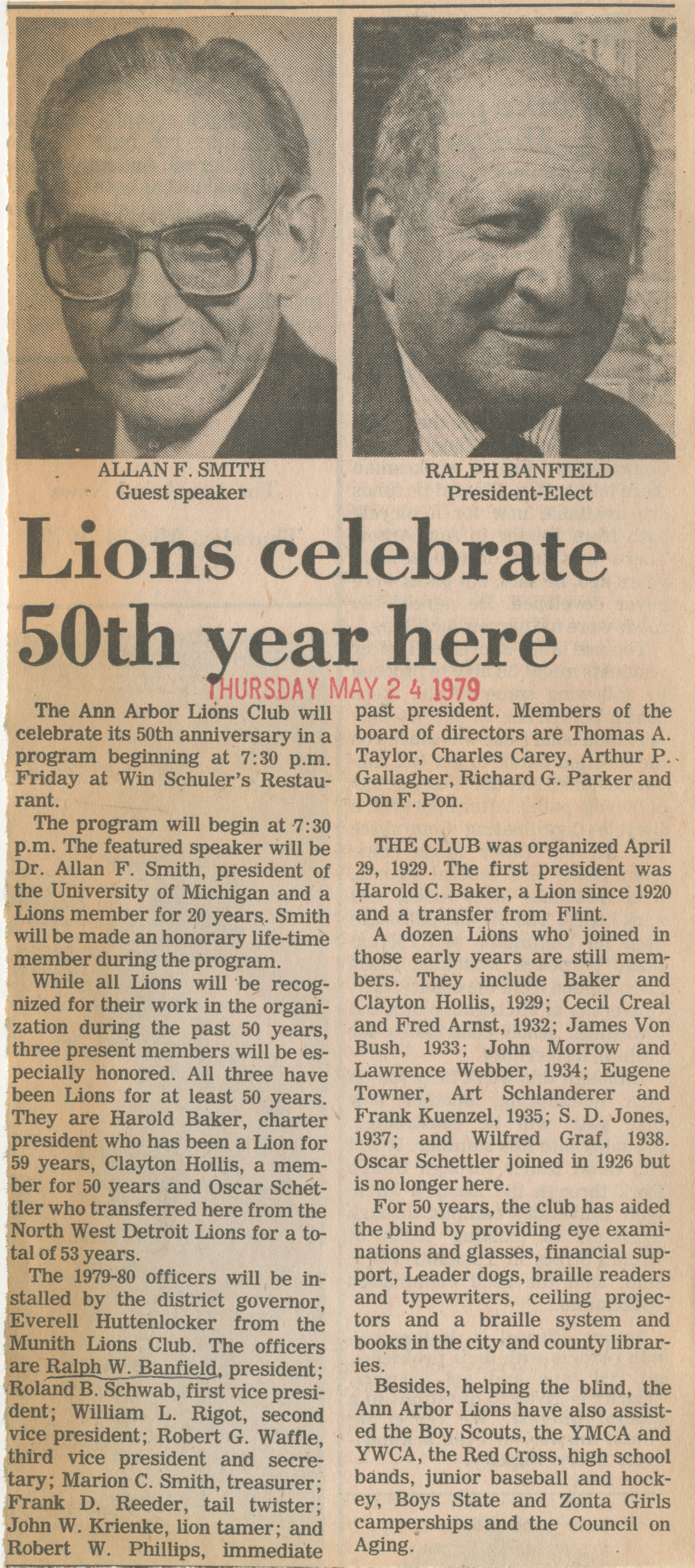 Lions celebrate 50th year here image