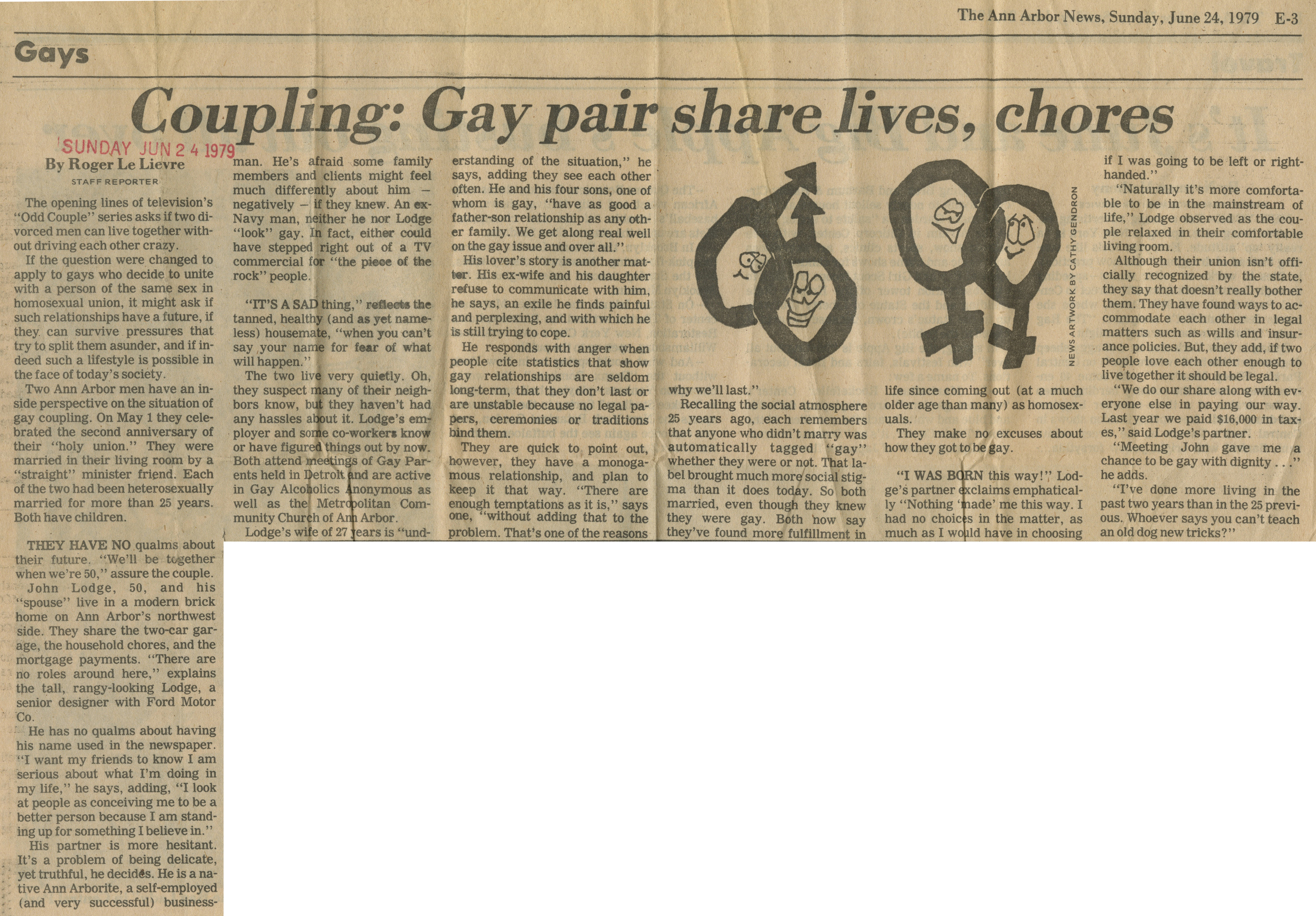 Coupling: Gay Pair Share Lives, Chores image