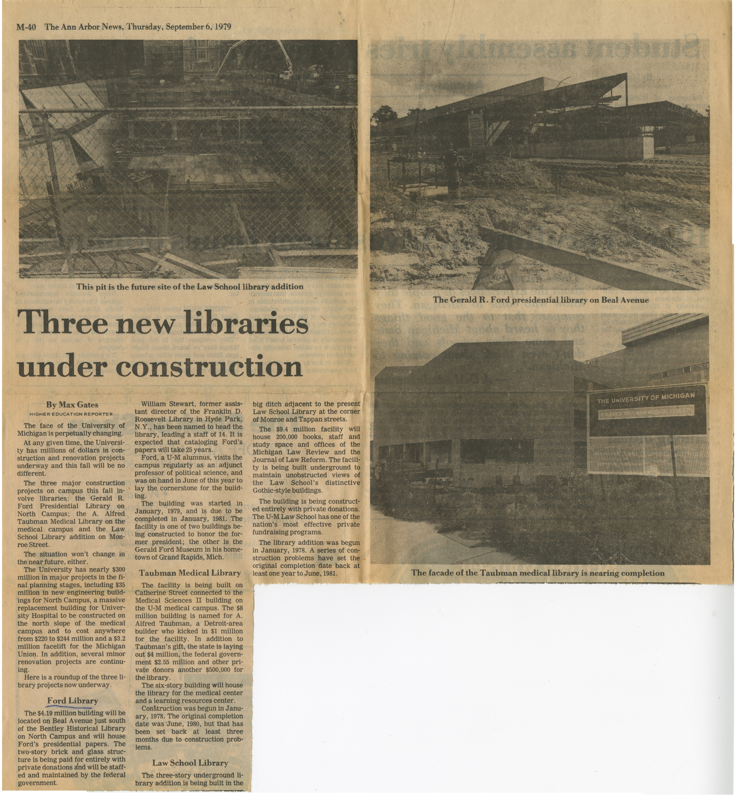 Three New Libraries Under Construction image