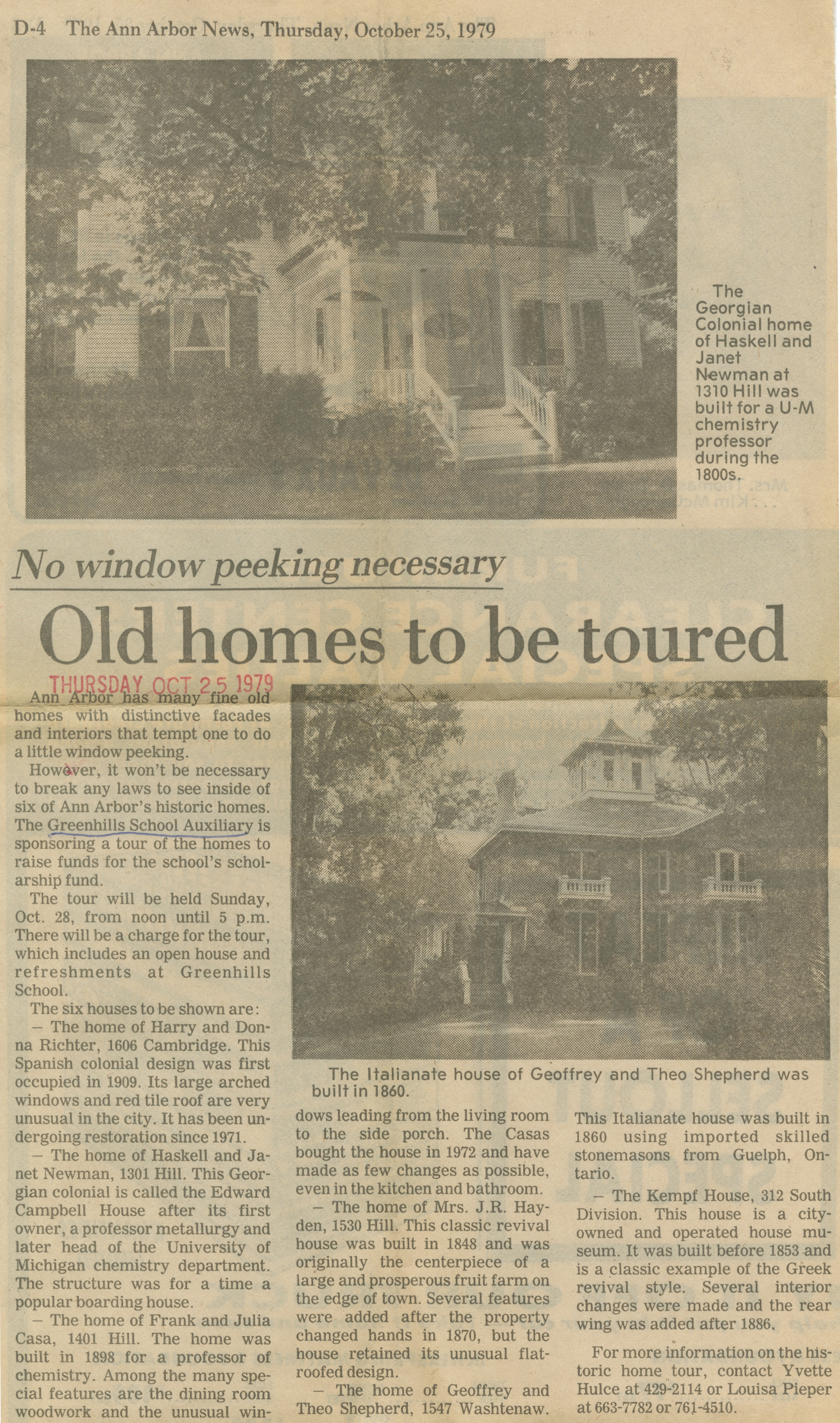 Old Homes To Be Toured image