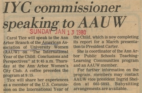 IYC Commissioner Speaking to AAUW image