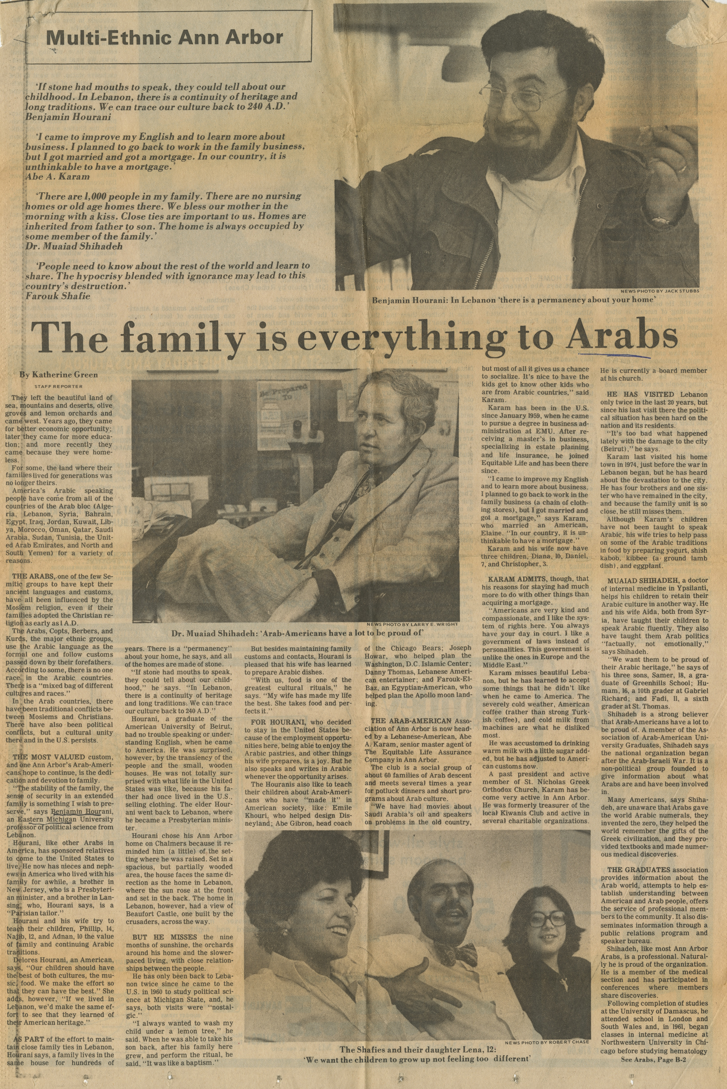 The family is everything to Arabs image