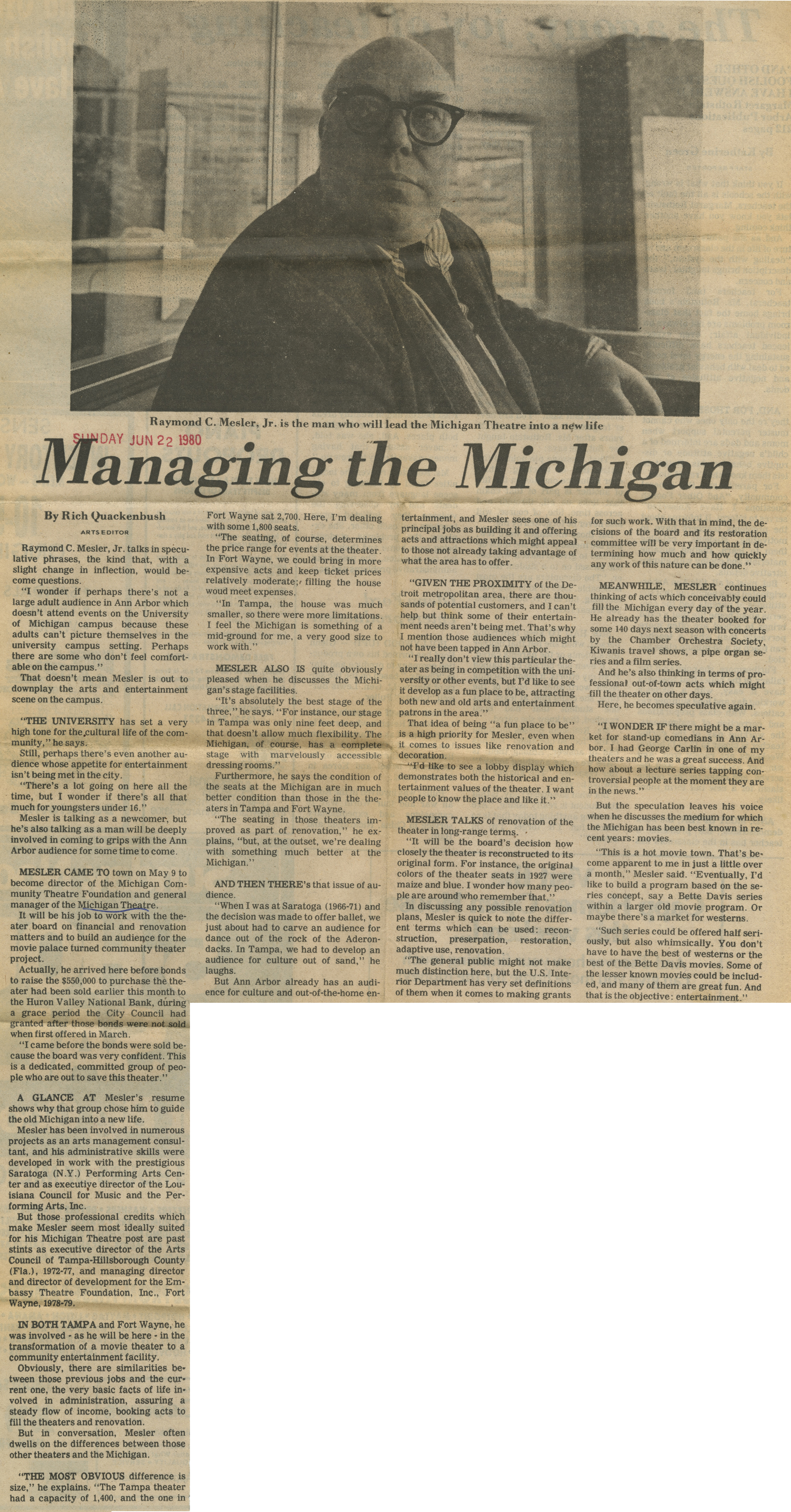 Managing the Michigan image
