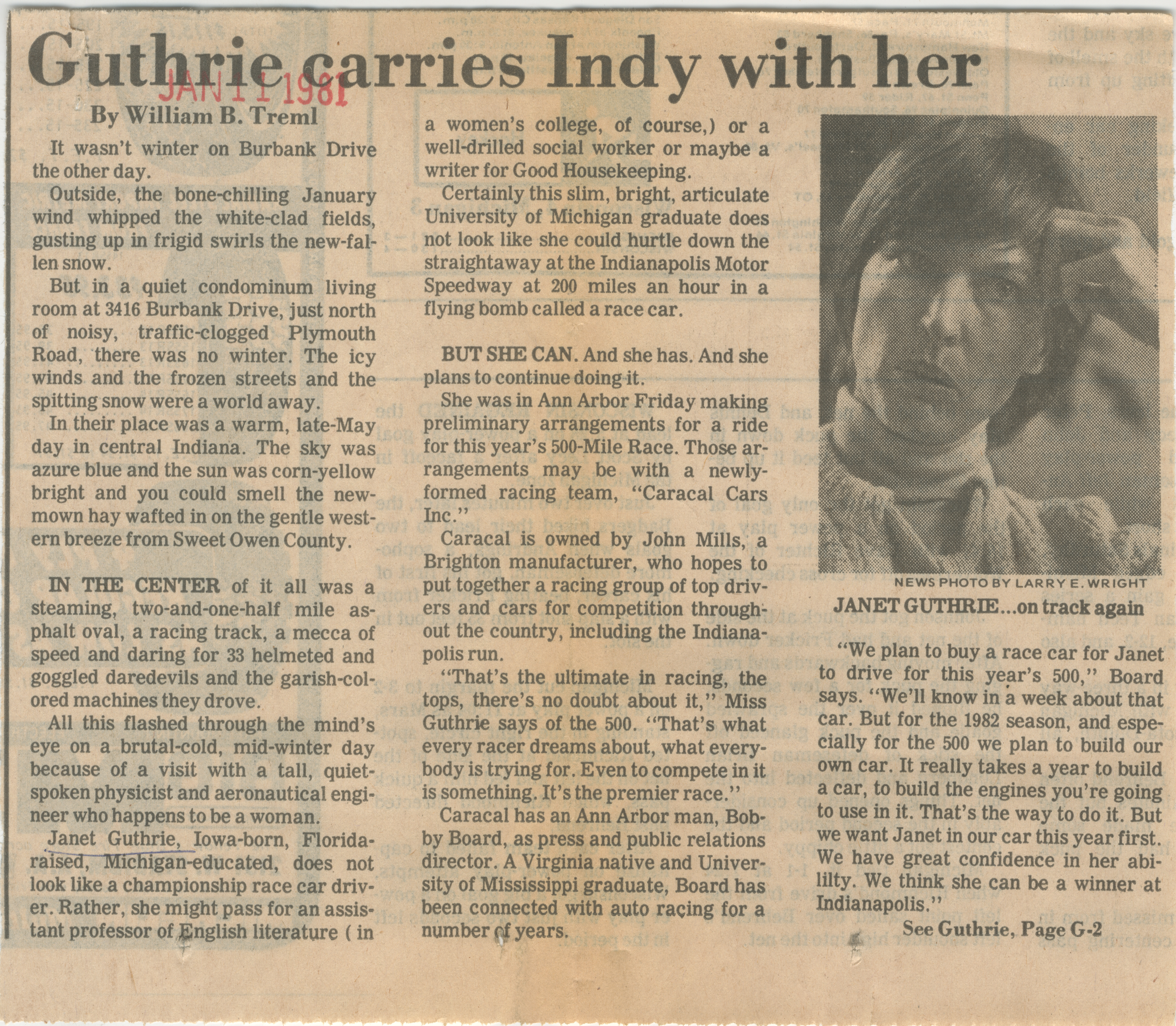 Guthrie carries Indy with her  image