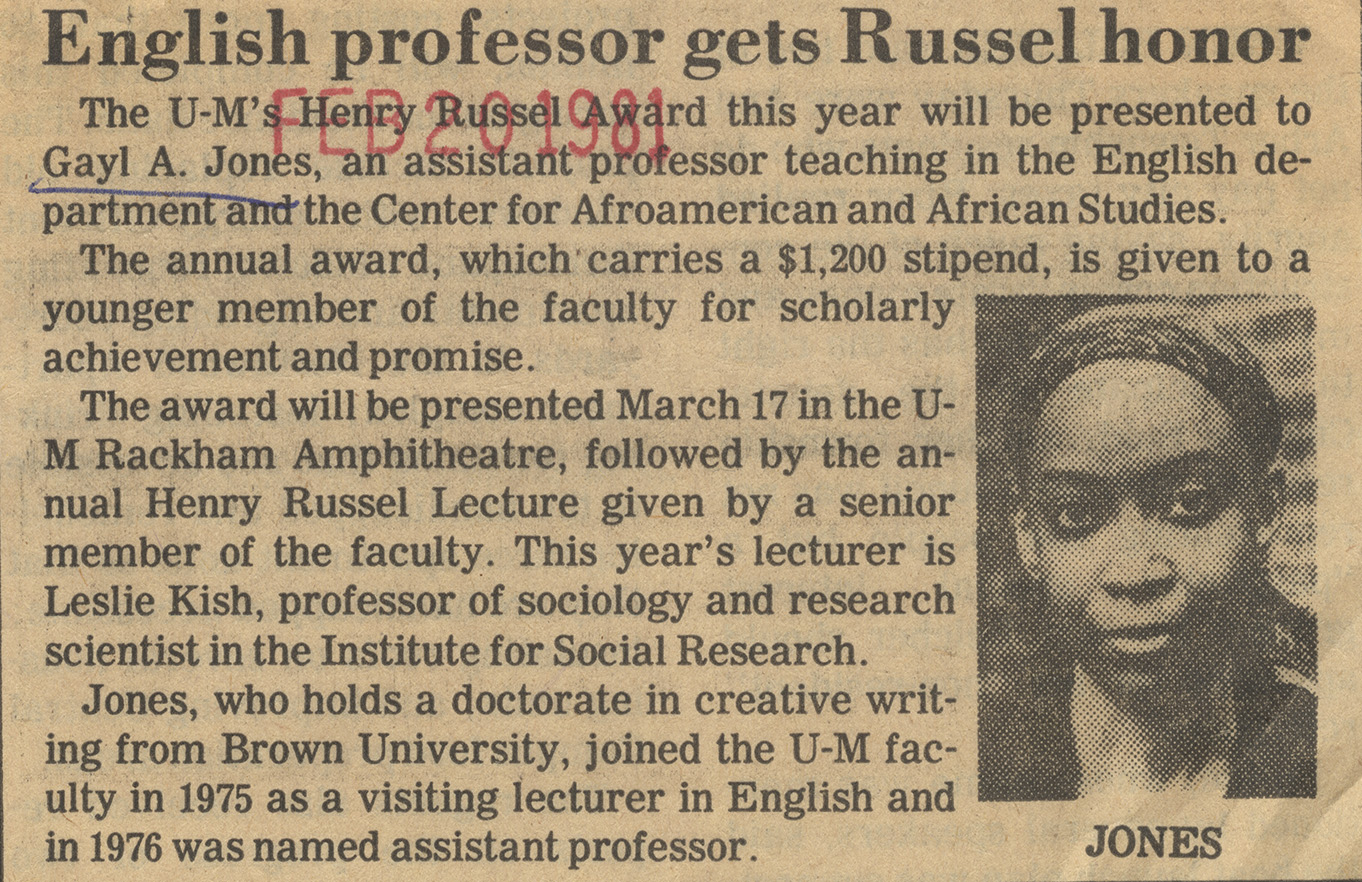 English Professor gets Russel honor image
