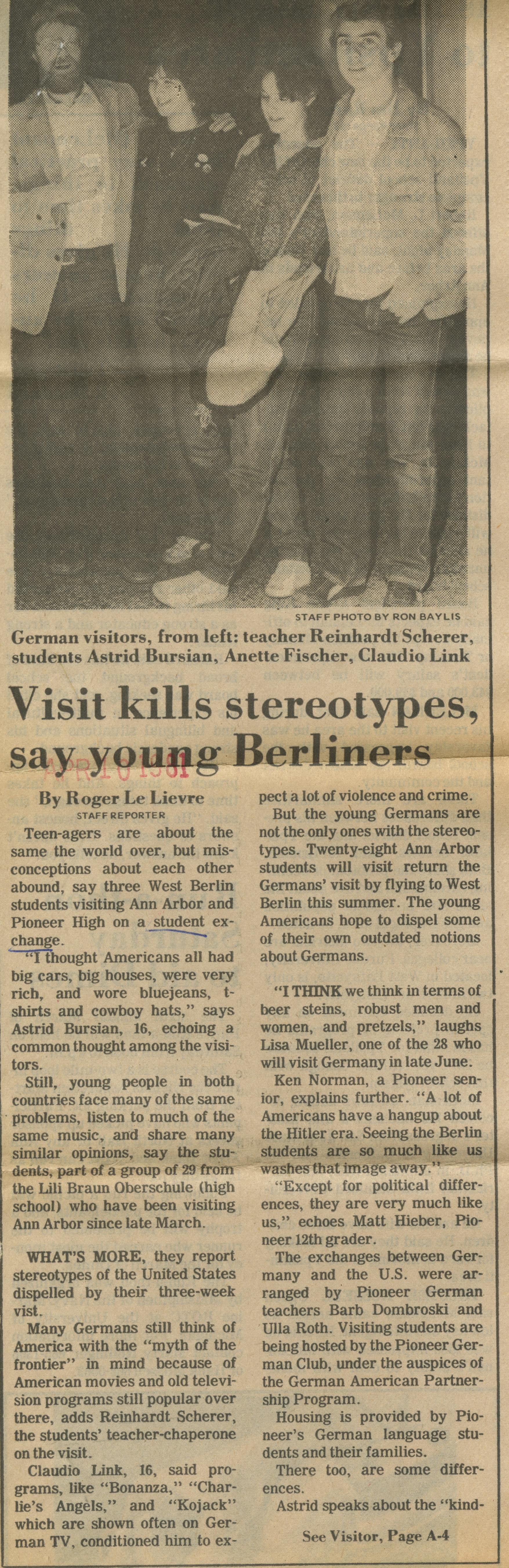 Visit Kills Stereotypes Say Young Berliners image